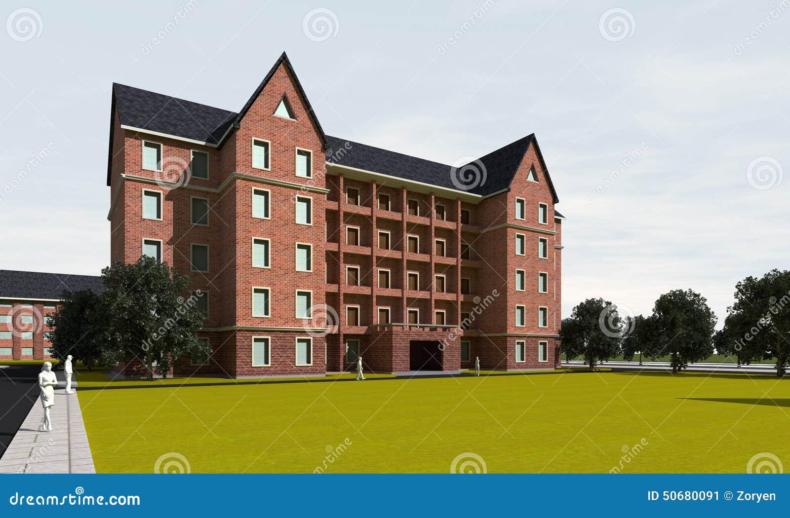 Download 大现代房屋建设 库存图片. 图片 包括有 外部, 不列塔尼的, 都市, 舱内甲板, 前面, 门面, 拱道 - 50680091