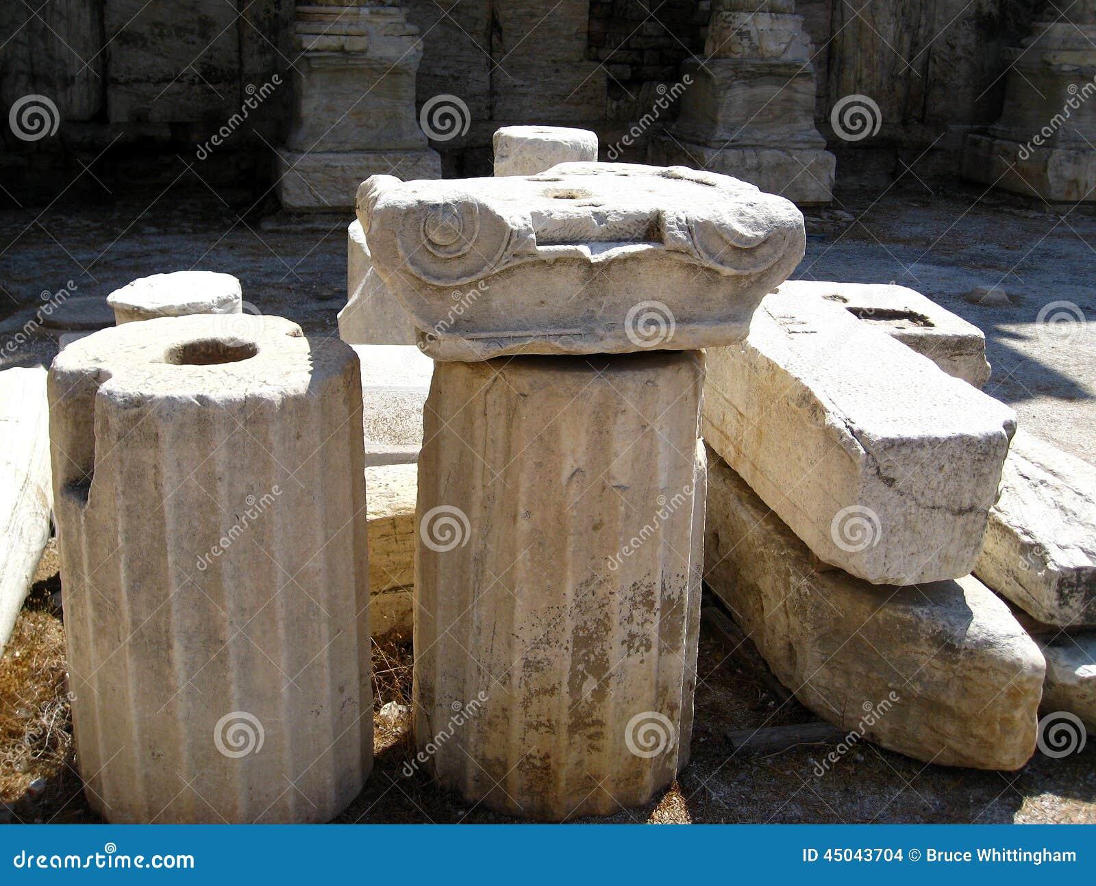 大理石离子专栏片断,古老集市,雅典