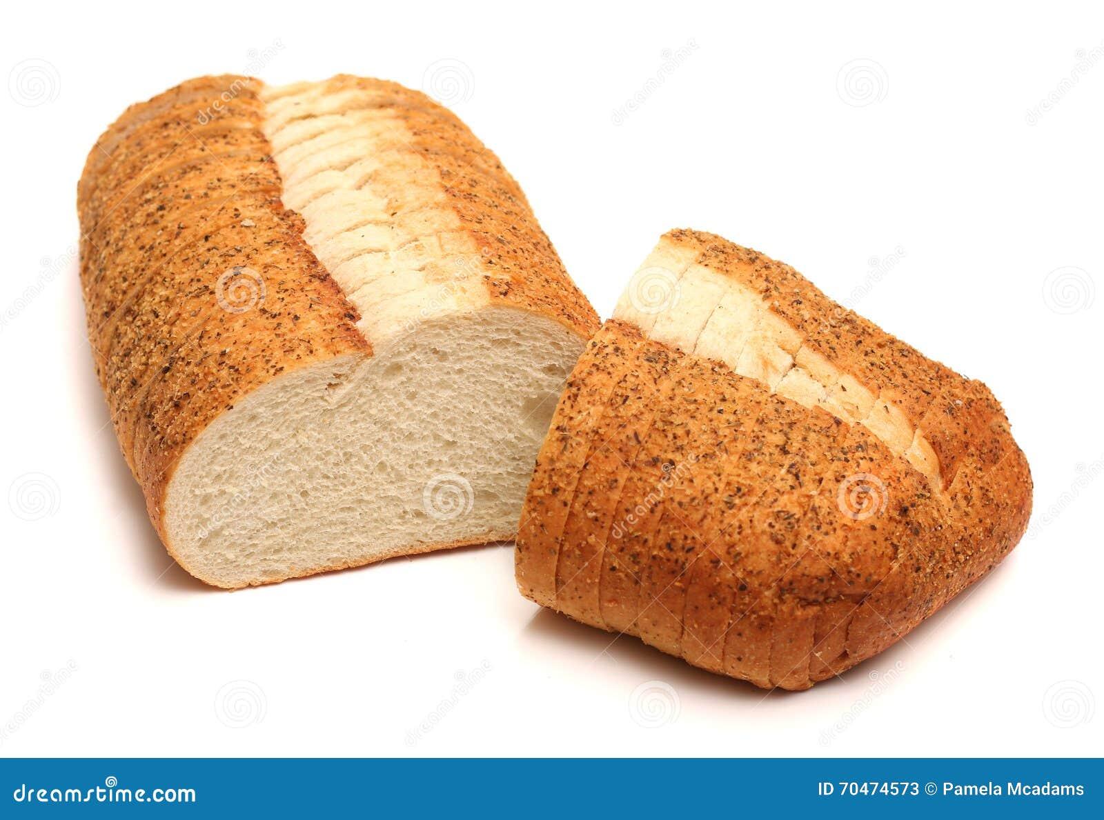 大蒜和草本工匠白面包