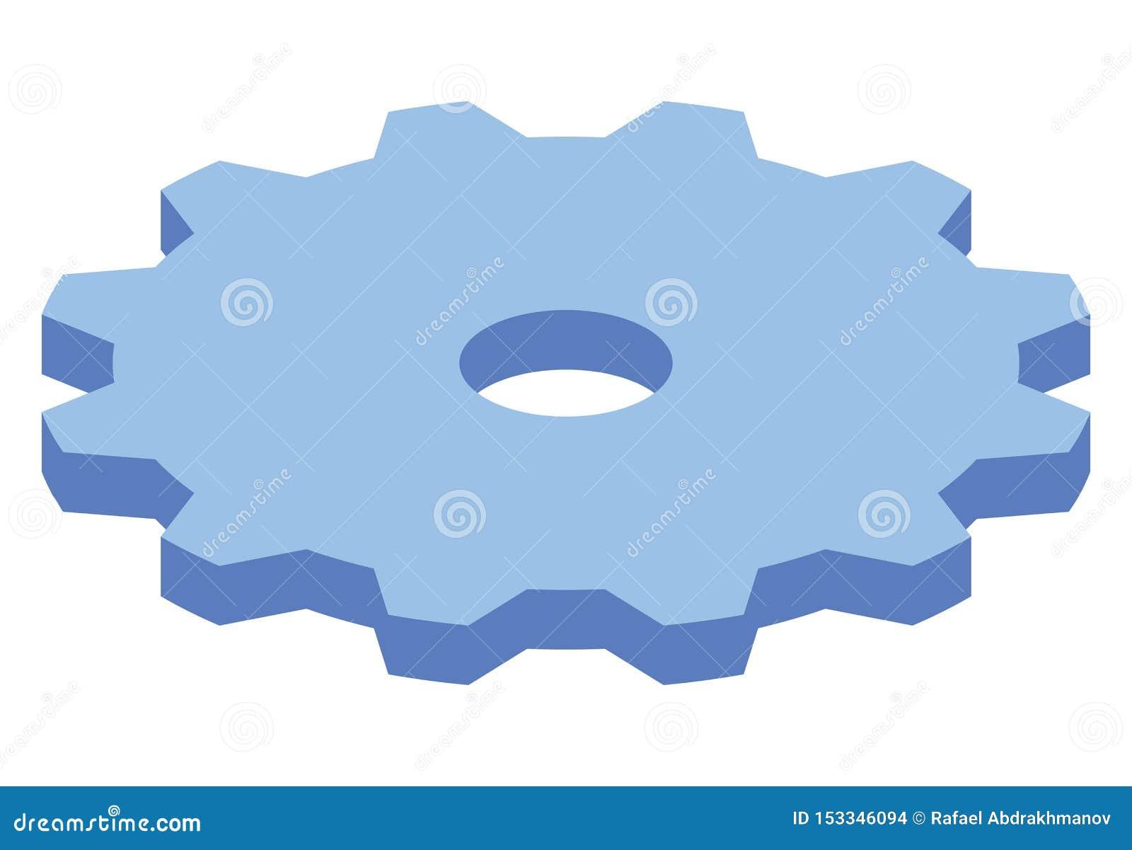 大蓝色齿轮等量象 现代样式概念嵌齿轮把传染媒介例证引入 在团队工作的力量和企业机制
