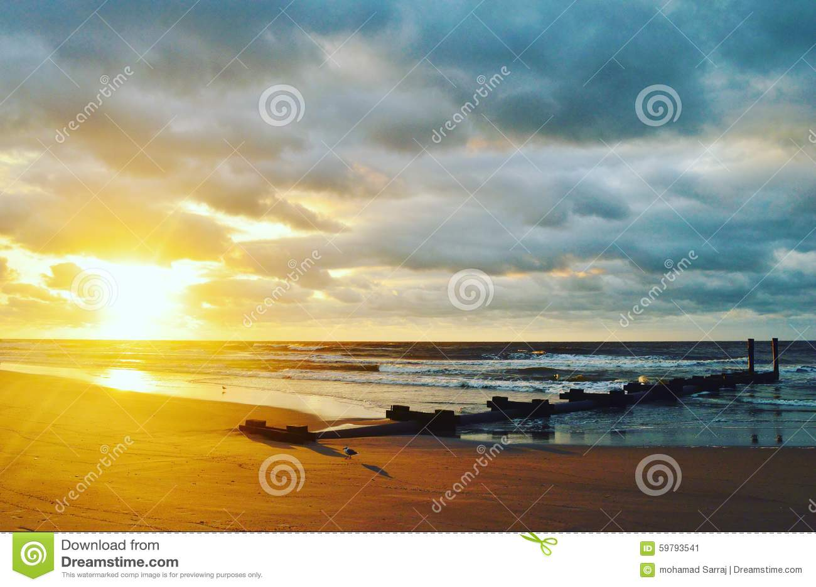 大西洋城海滩日出