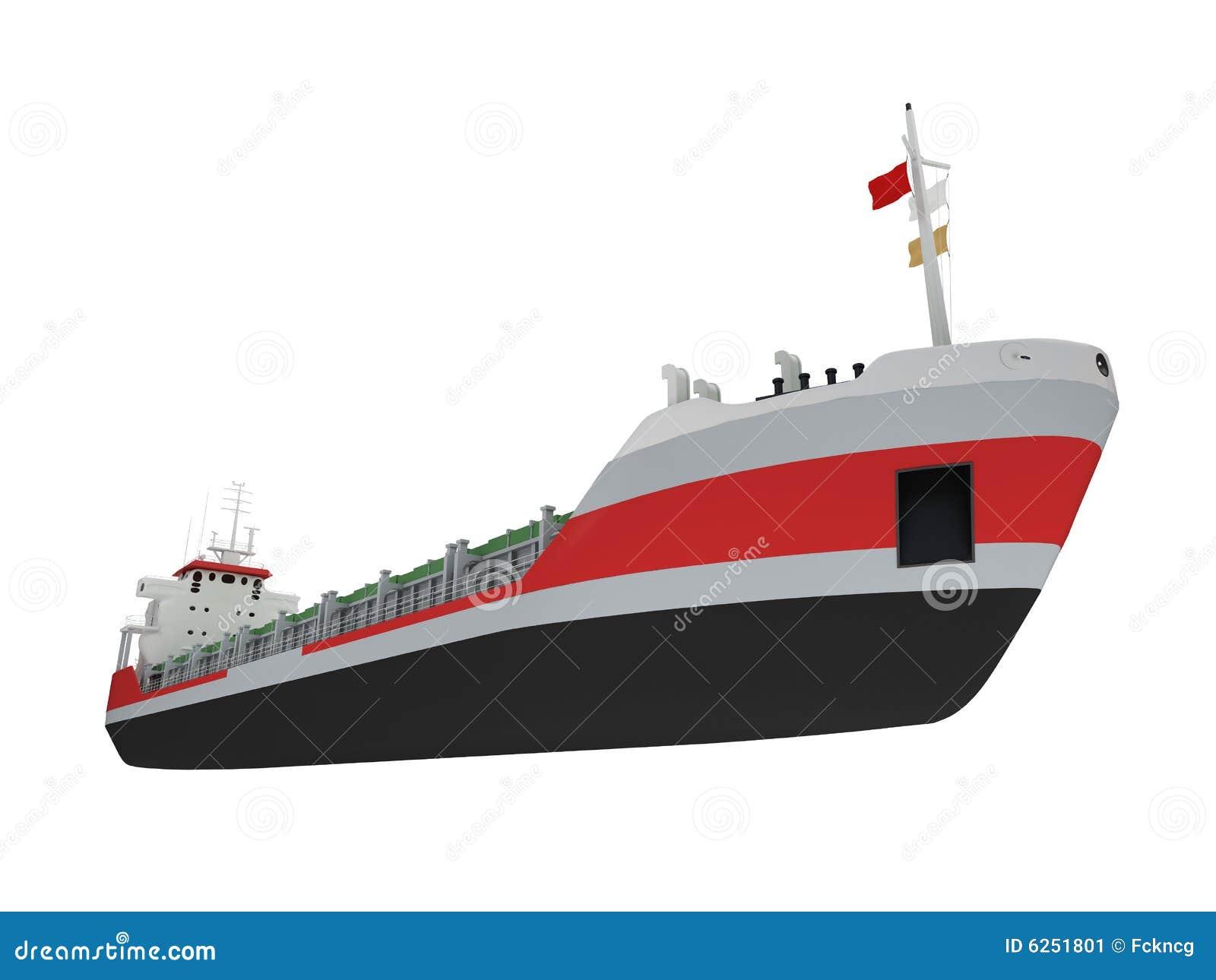 大货物前面查出的船视图