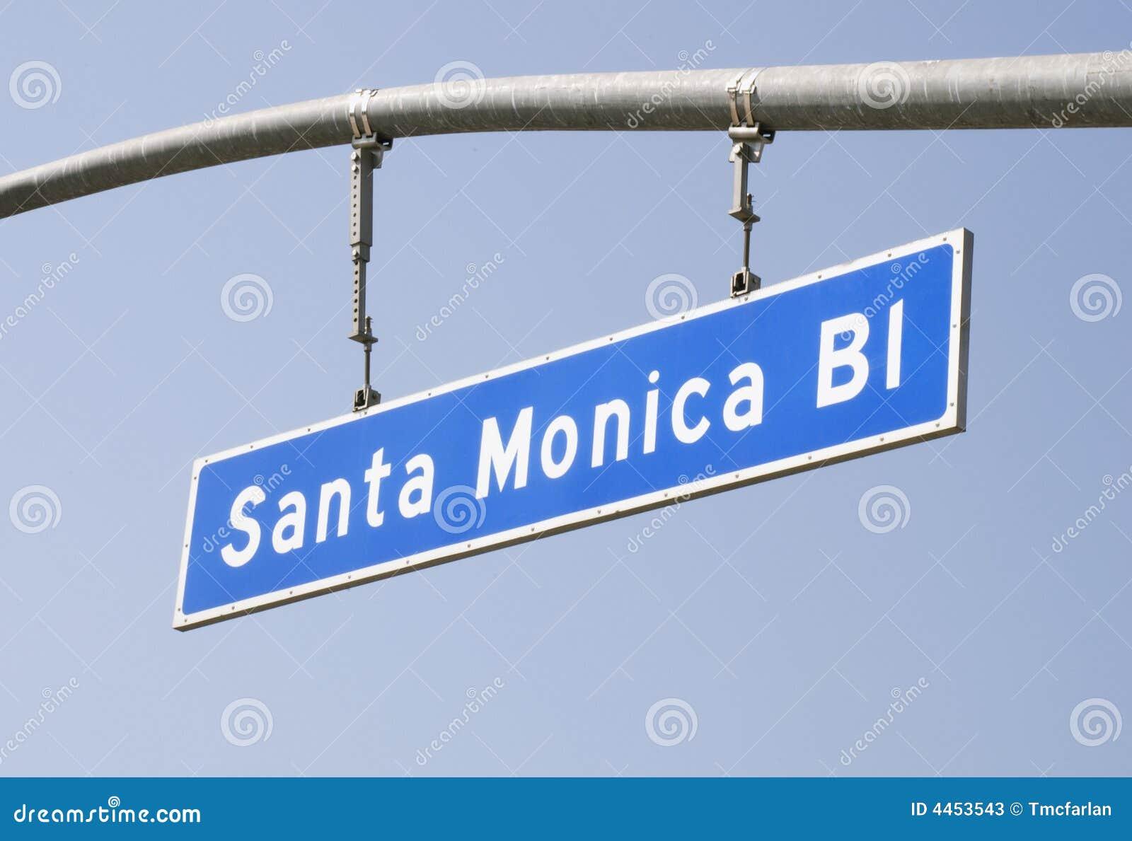 大道monica ・圣诞老人符号街道