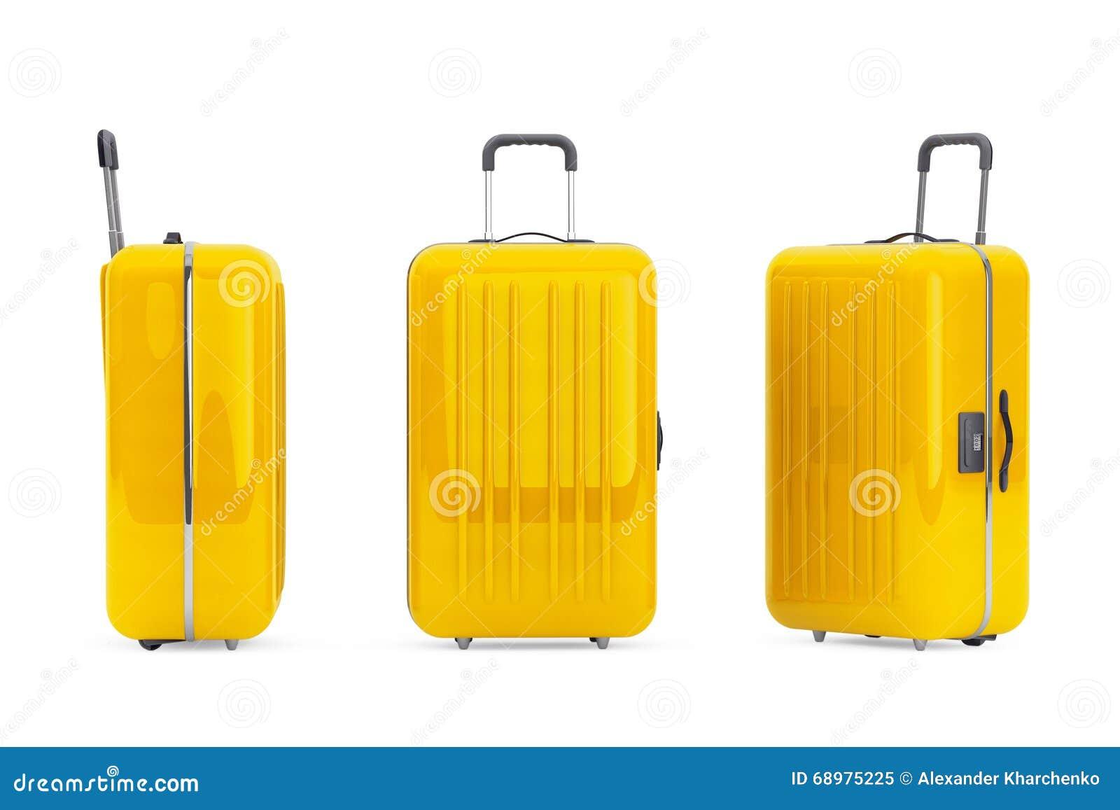 大黄色聚碳酸酯纤维手提箱