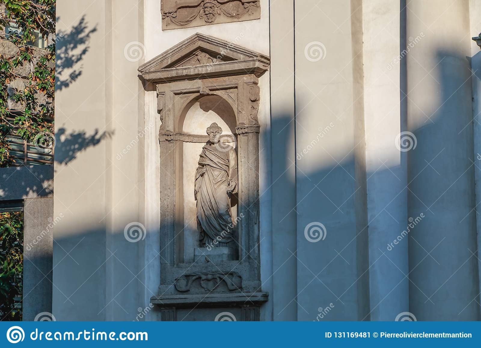 天主教巴洛克式的圣若瑟堂的建筑细节