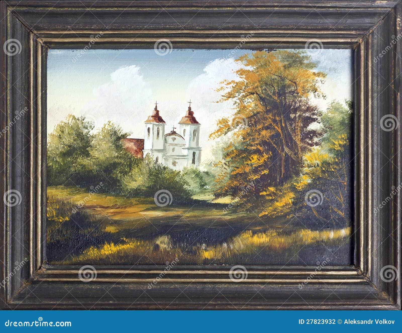 天主教教会油画
