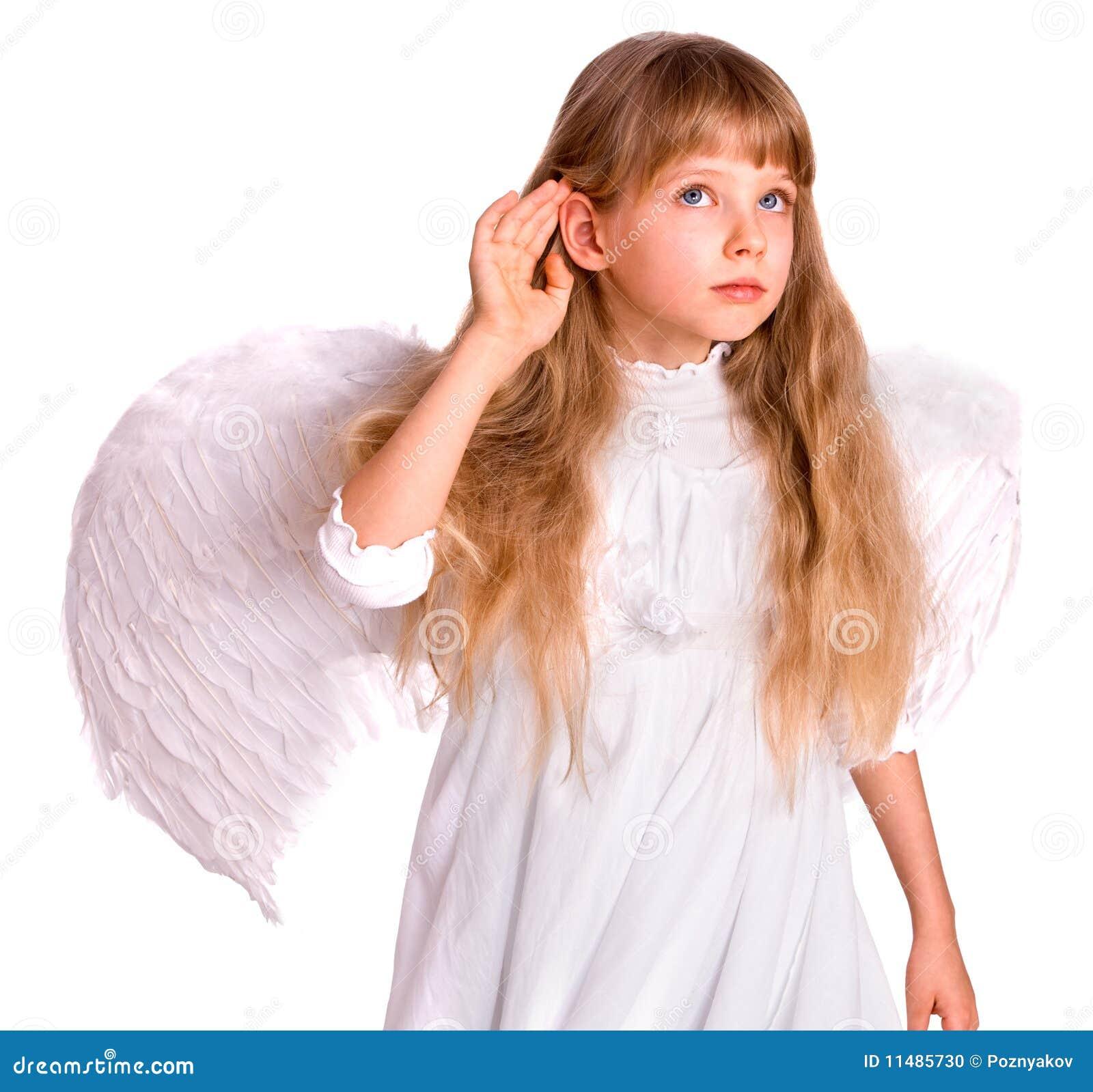 天使儿童服装耳朵女孩现有量听近