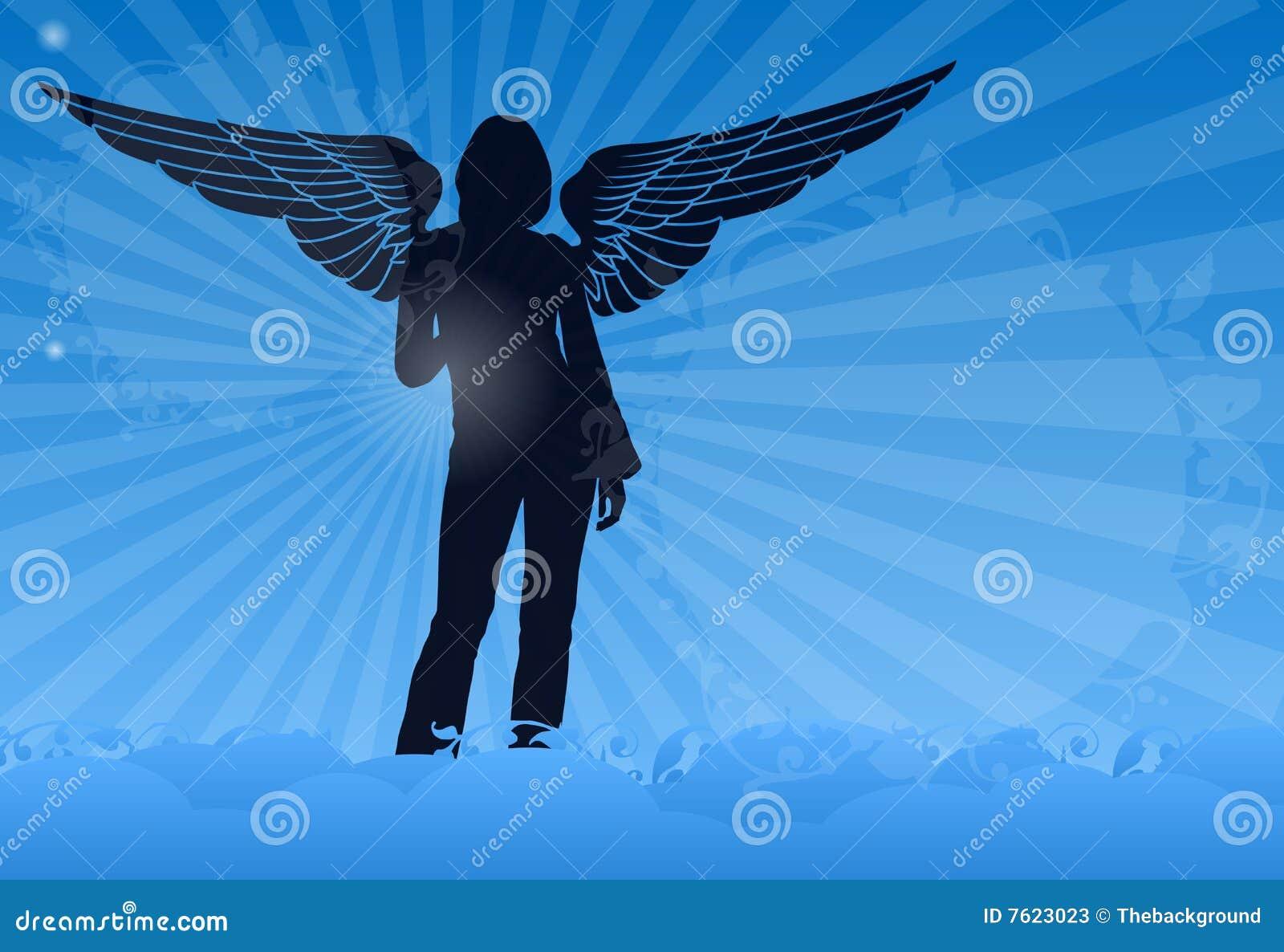 天使美丽的云彩翼