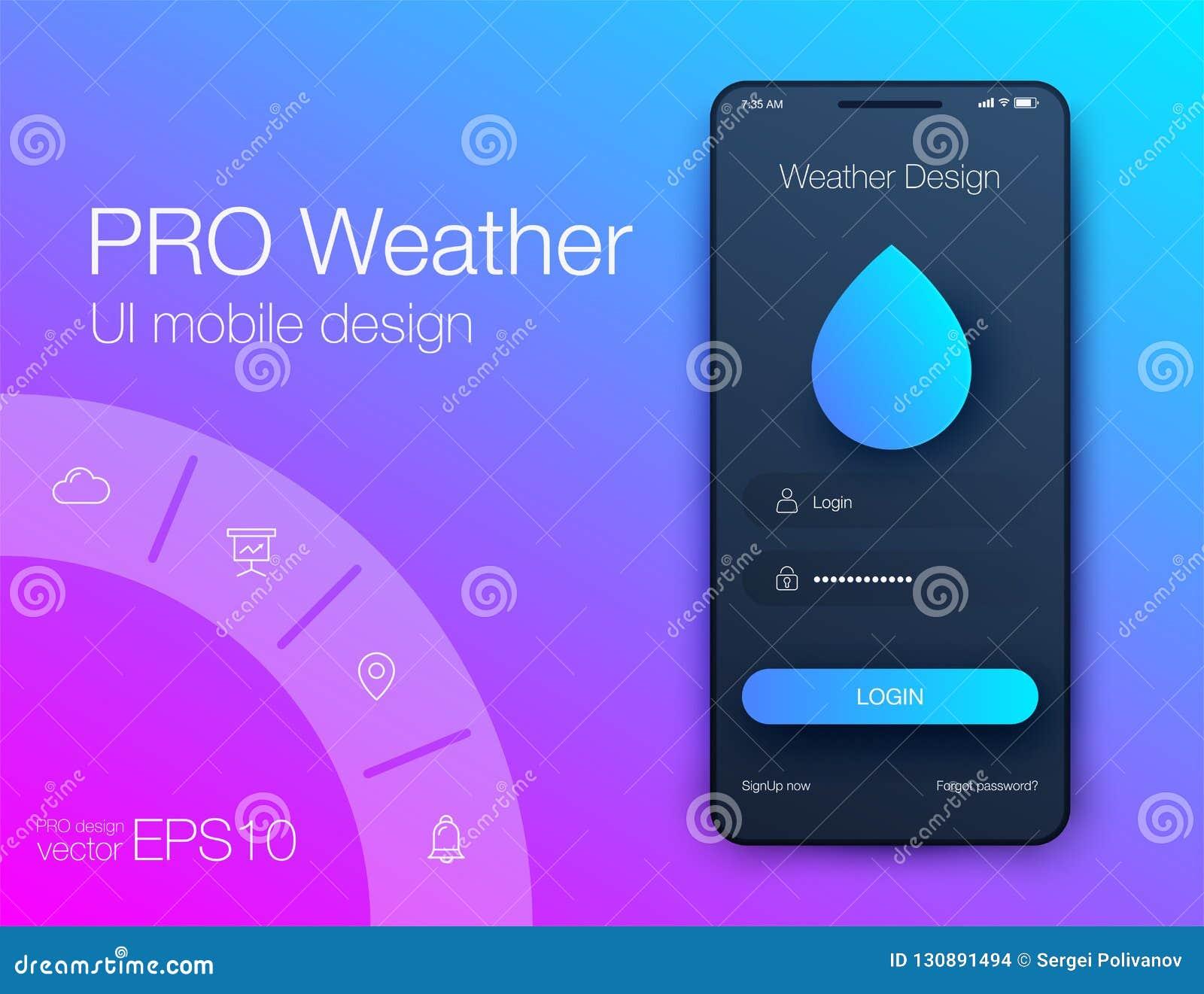 天气预报应用程序UxUi储蓄设计绘制媒介Android显示渲染传染图片