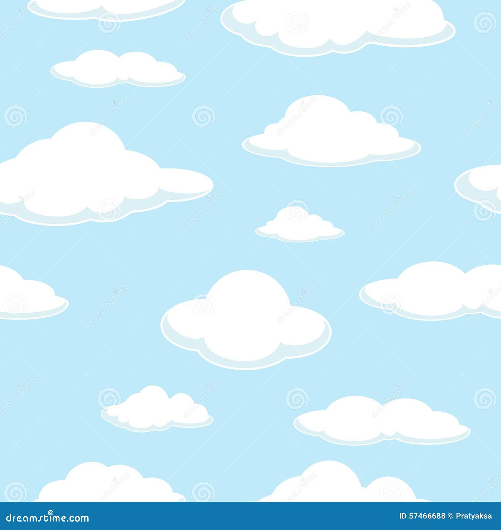 天空无缝的背景 云彩无缝的背景 好日 结算 蓝色云彩