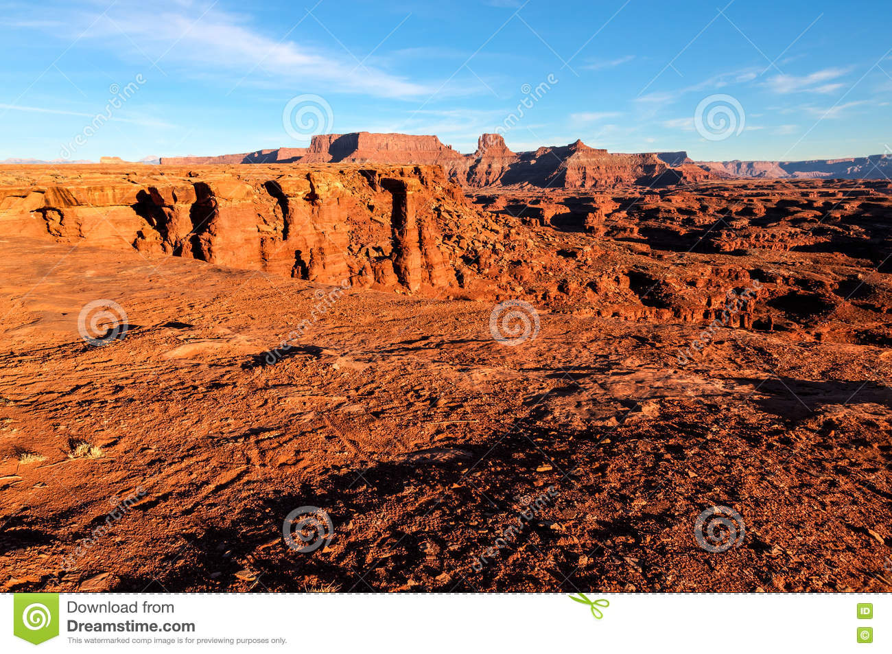 天空的犹他白色外缘路Canyonlands NP-海岛