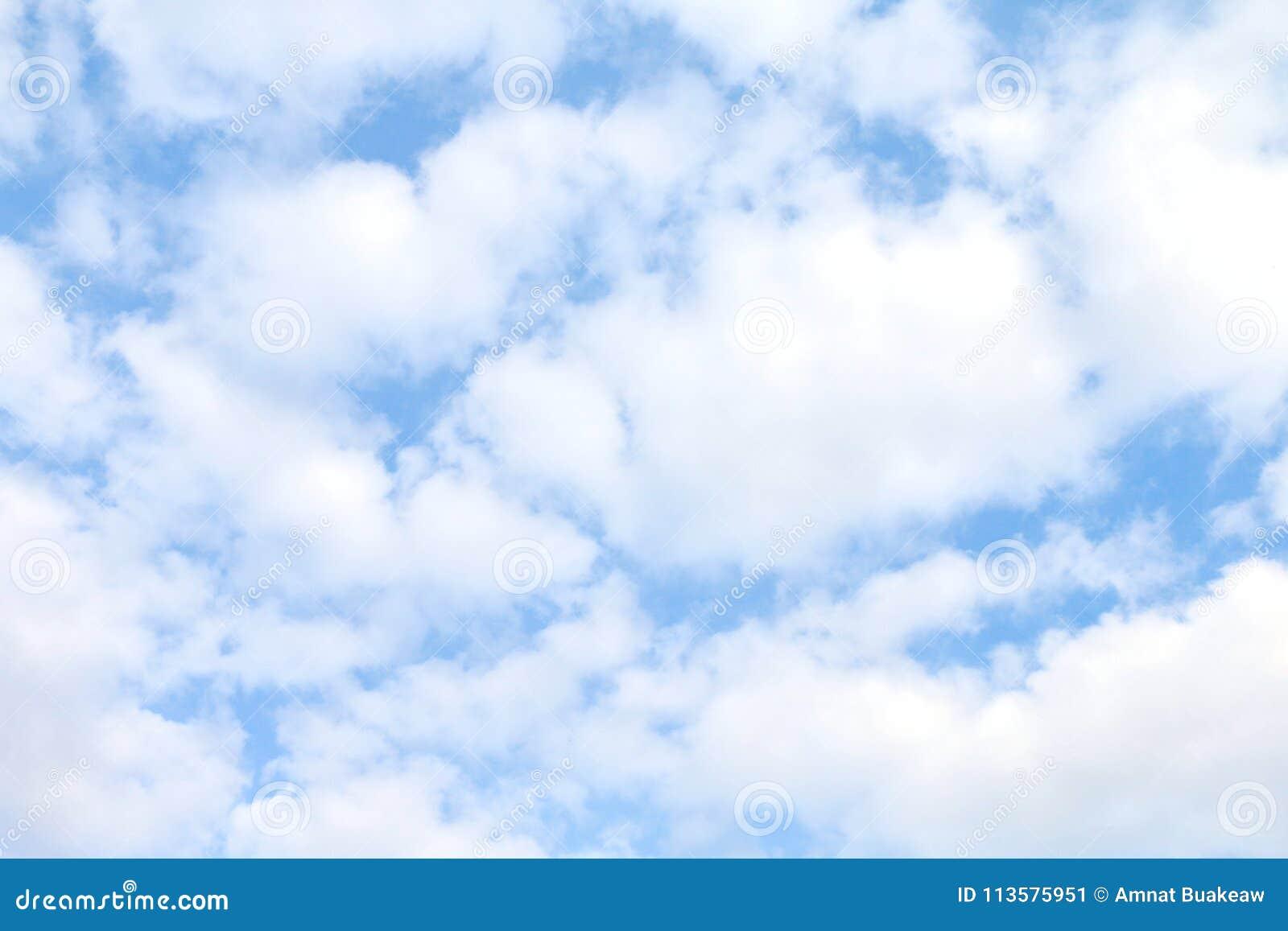 天空,白色天蓝色蓬松的云彩,软的天空云彩背景, cloudscape天空明白云彩