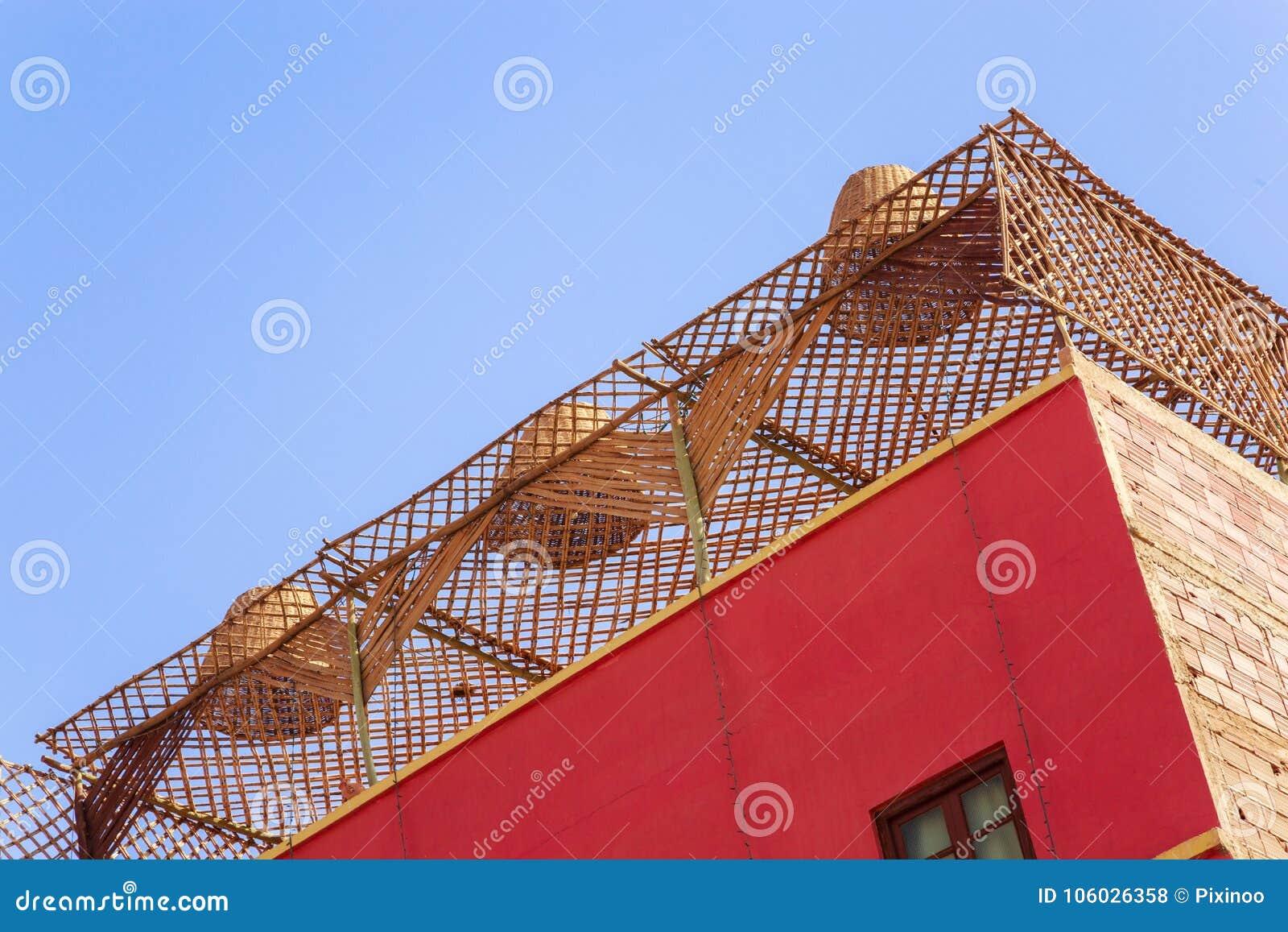 天花板由竹子制成