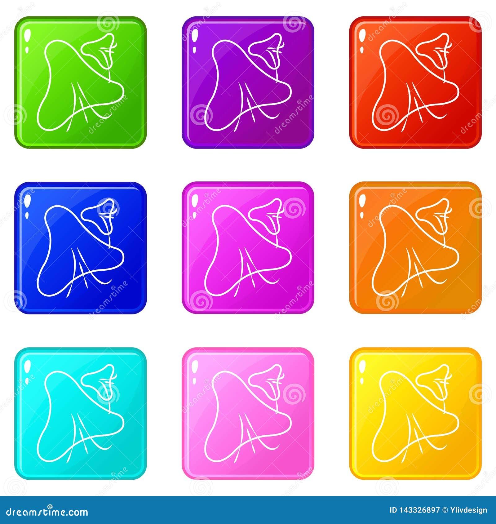 天花病毒象集合9颜色汇集