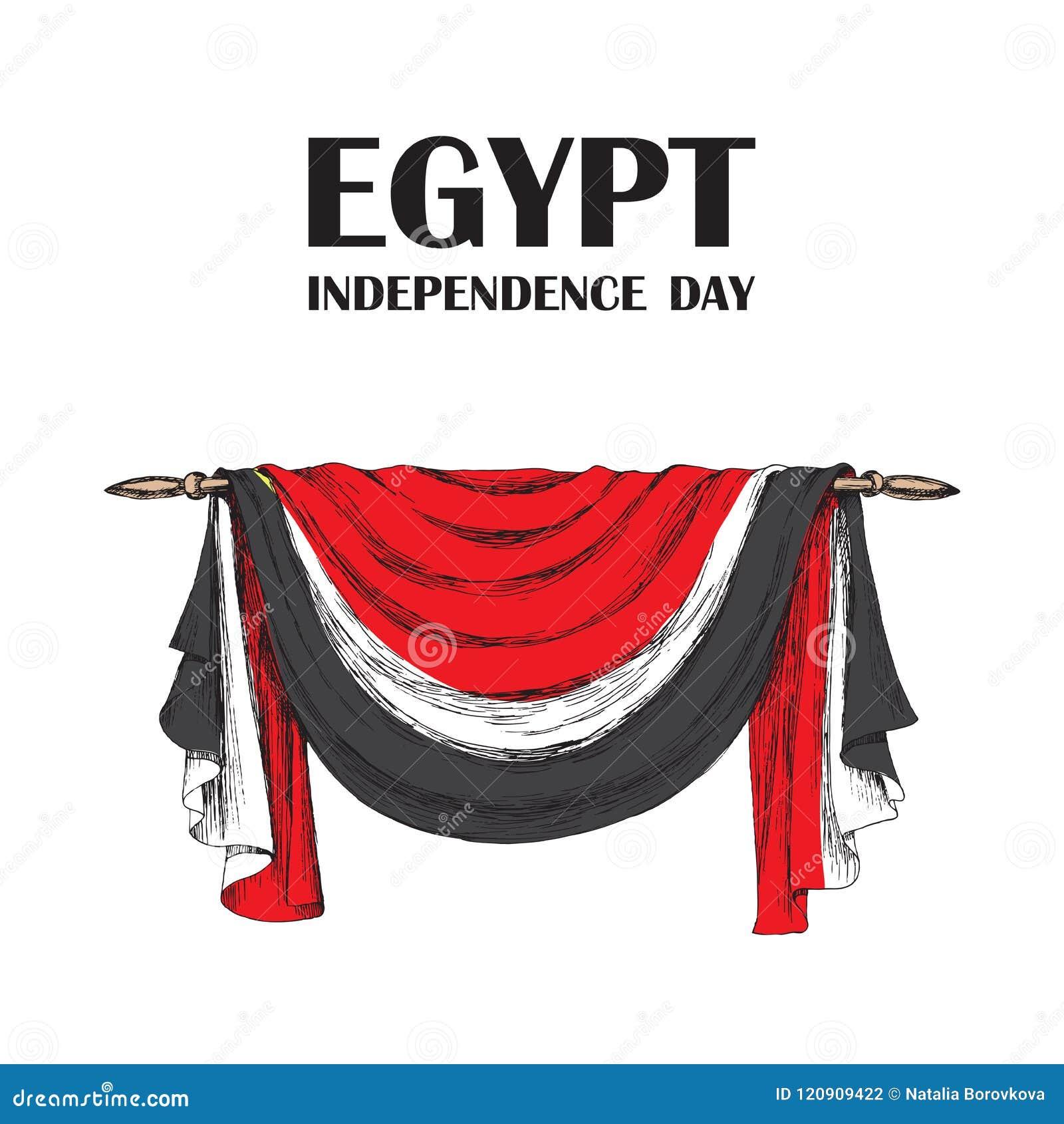 天革命在埃及 7月23日 国家独立天在非洲 织品的装饰的装饰