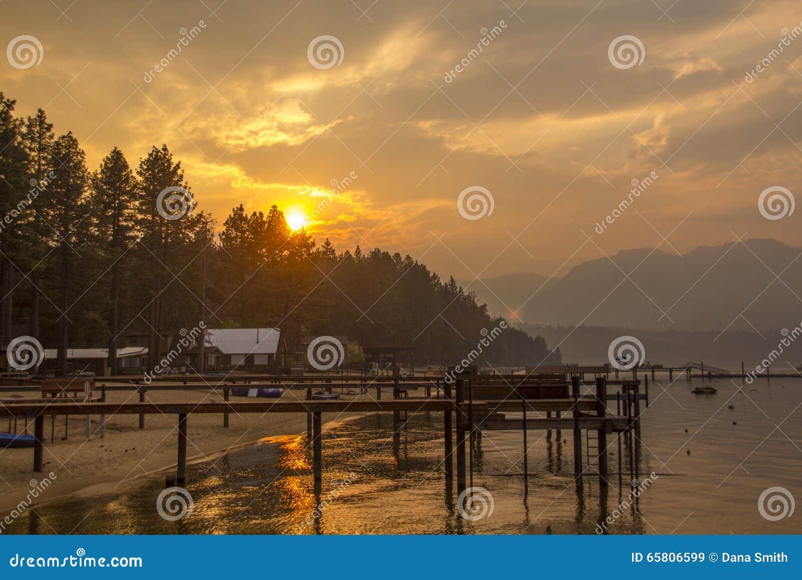 太浩湖日落