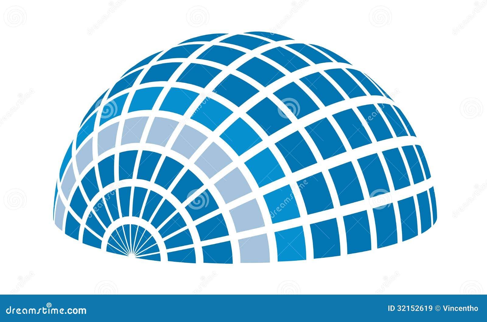 太阳光芒圆顶商标元素例证
