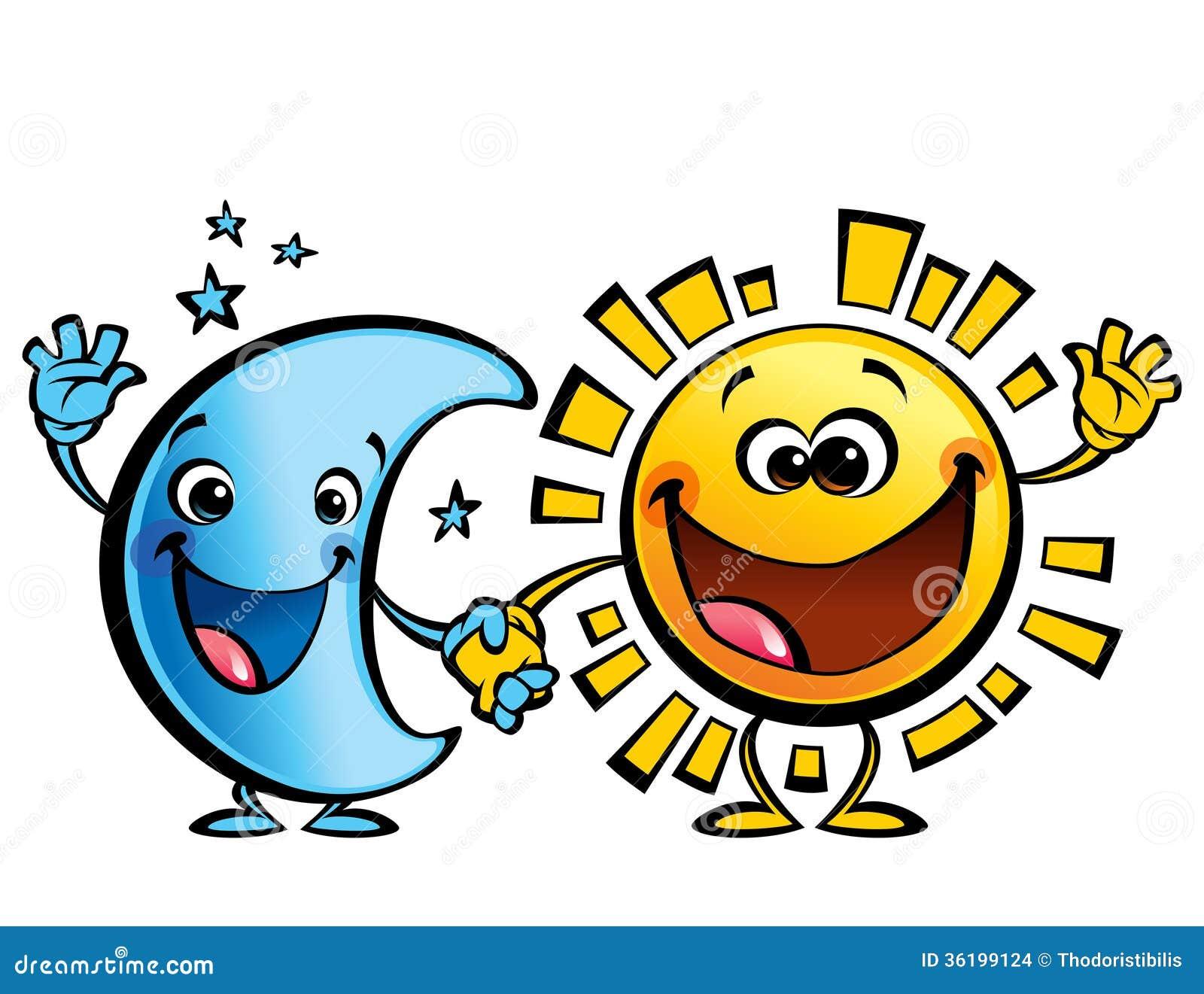 太阳和月亮最好的朋友婴孩漫画人物