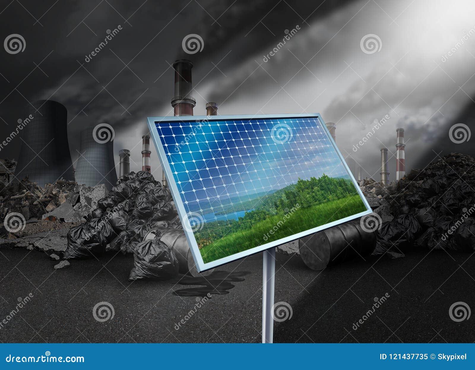 太阳电池板和污染
