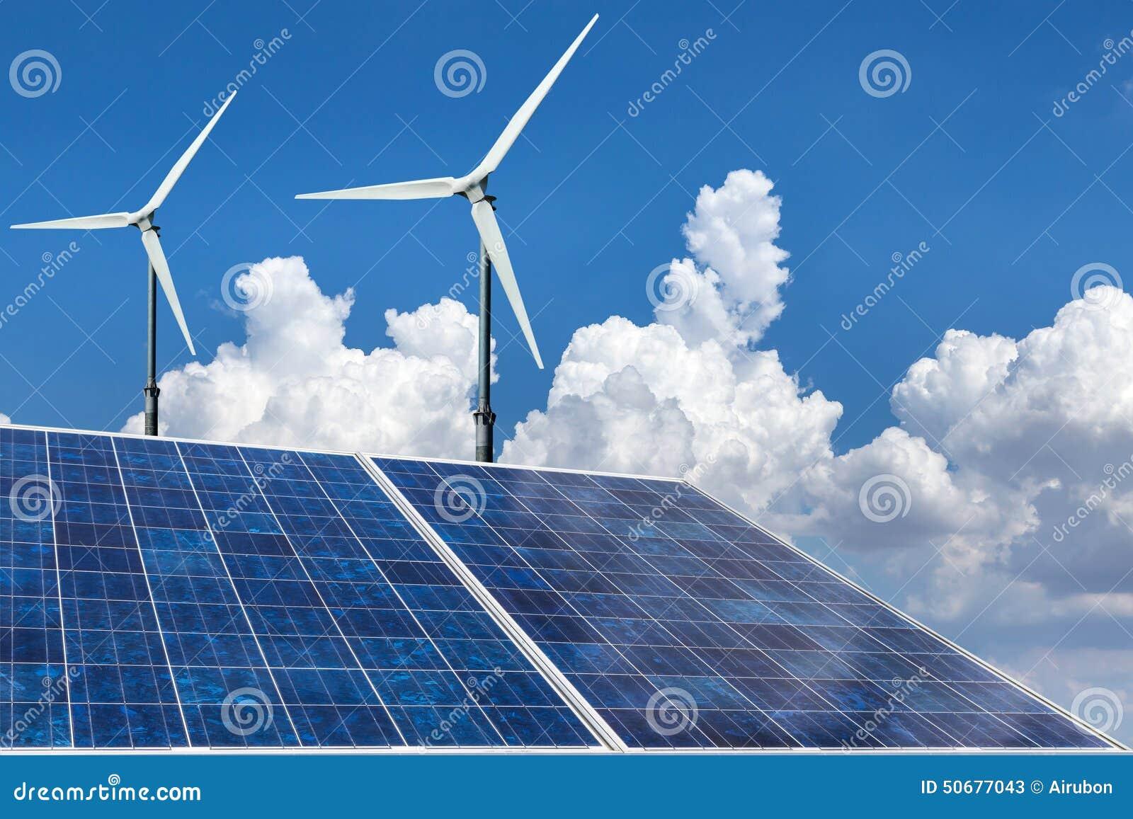 Download 太阳电池板和风轮机可选择能源 库存图片. 图片 包括有 能源, 全球, 模块, 温室, ,并且, 效率, 面板 - 50677043