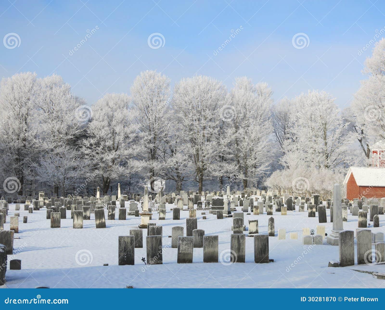 冷淡的冬天公墓