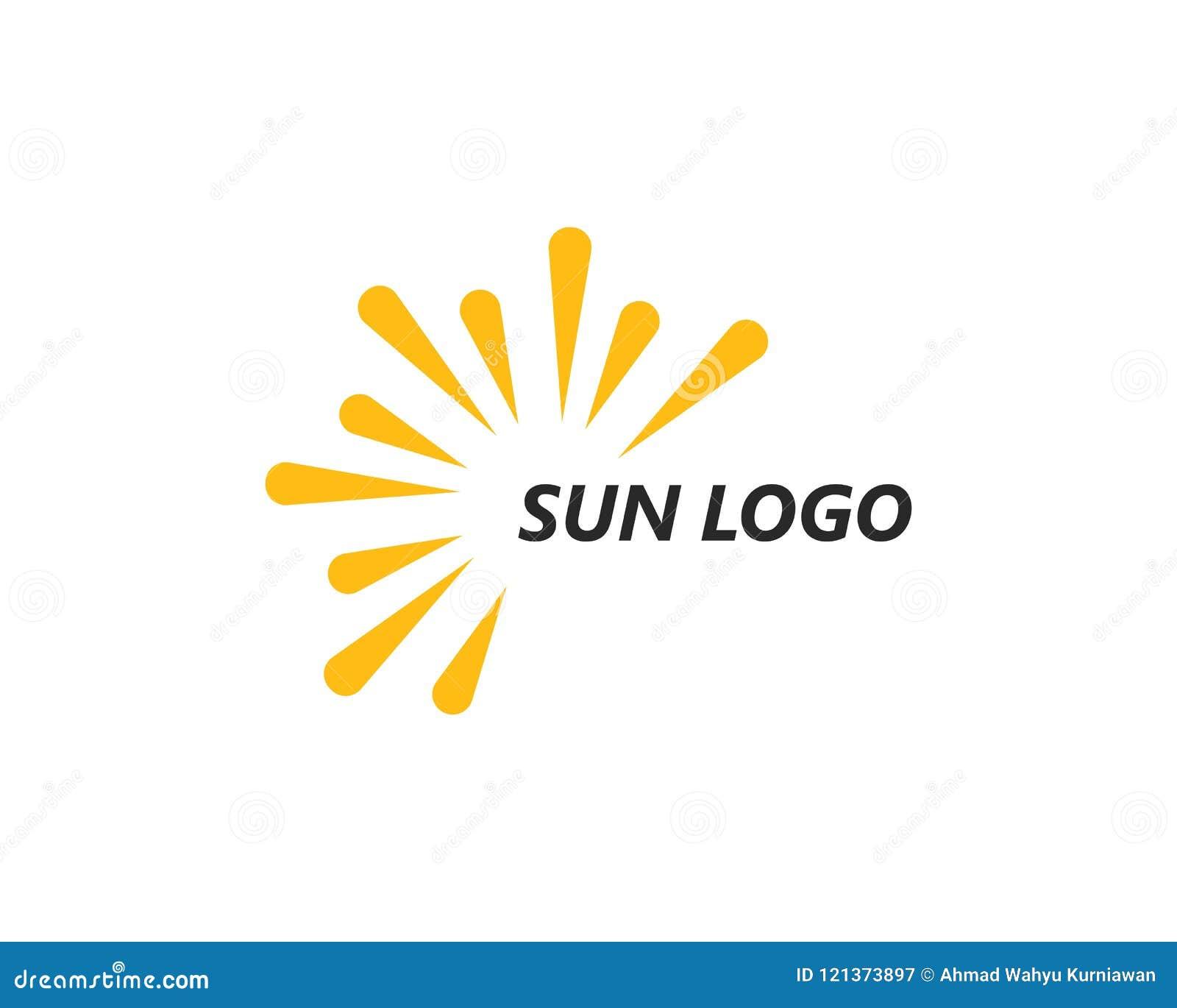 太阳ilustration商标传染媒介