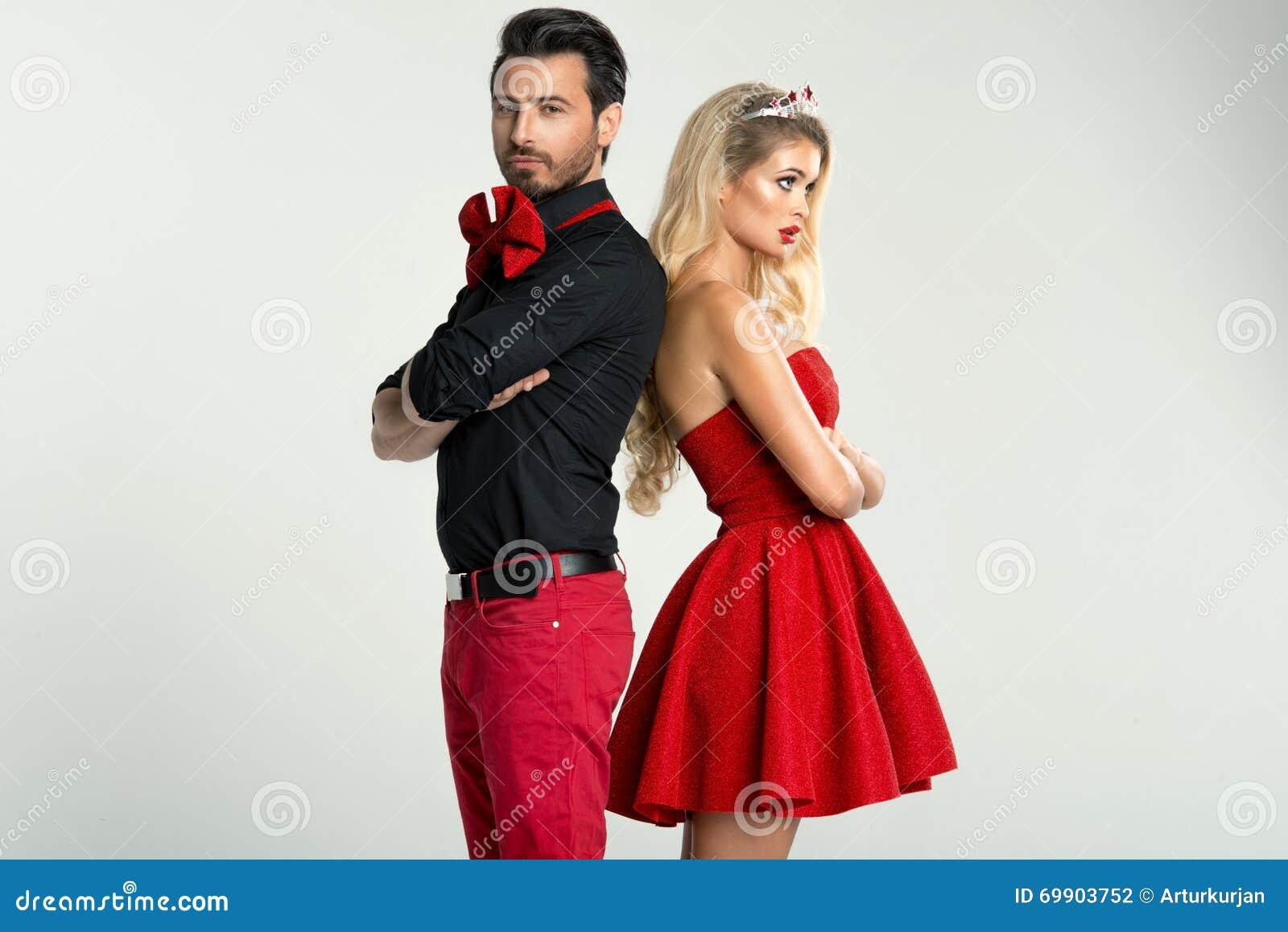 夫妇时尚画象