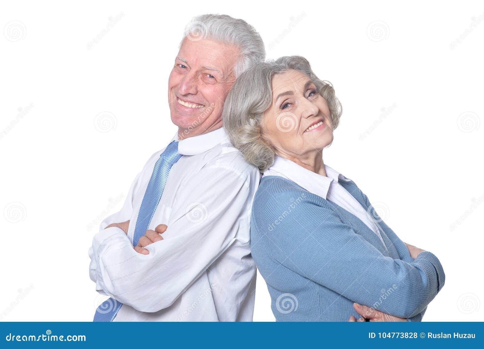 夫妇老人纵向前辈二