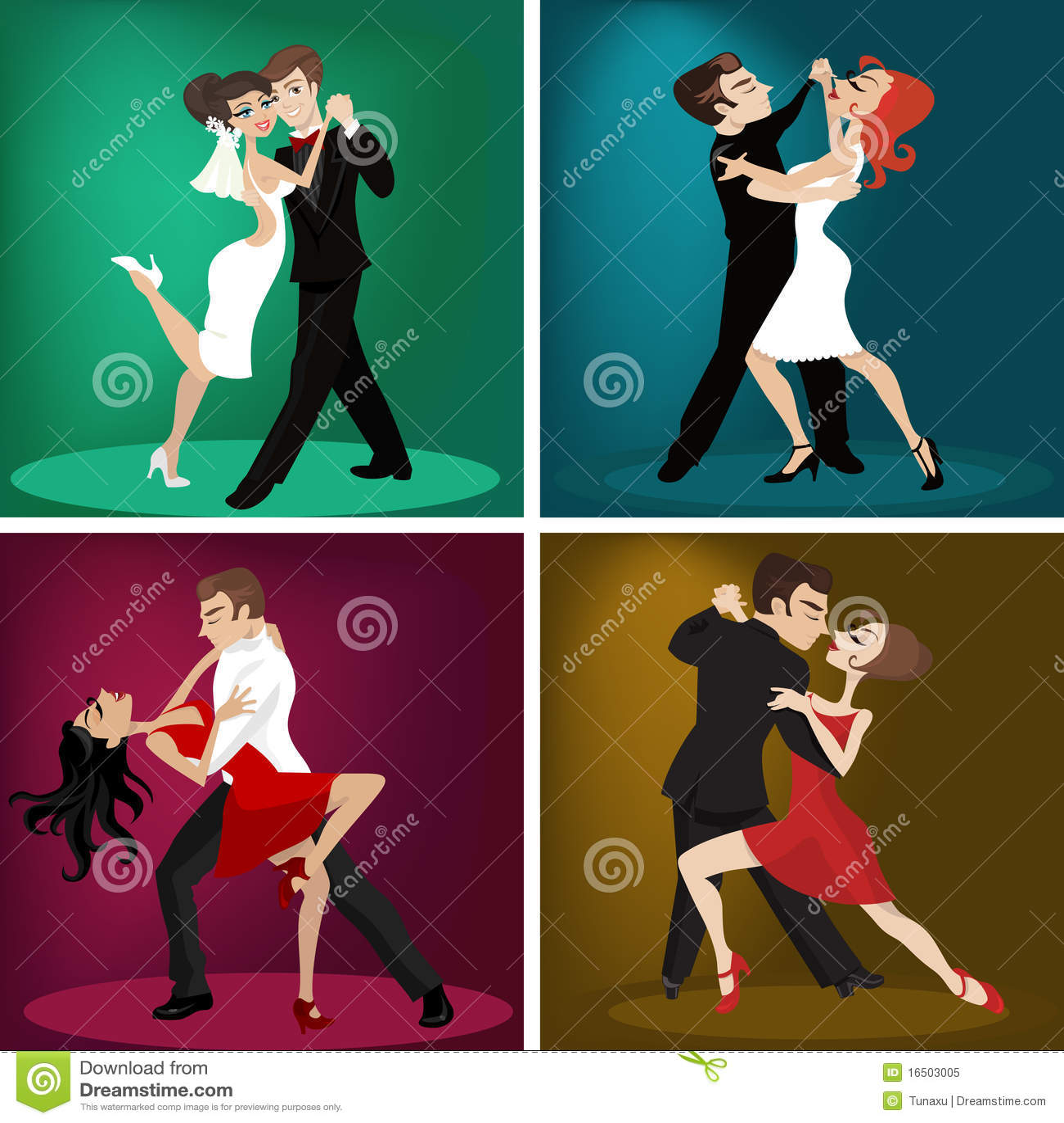 夫妇跳舞浪漫