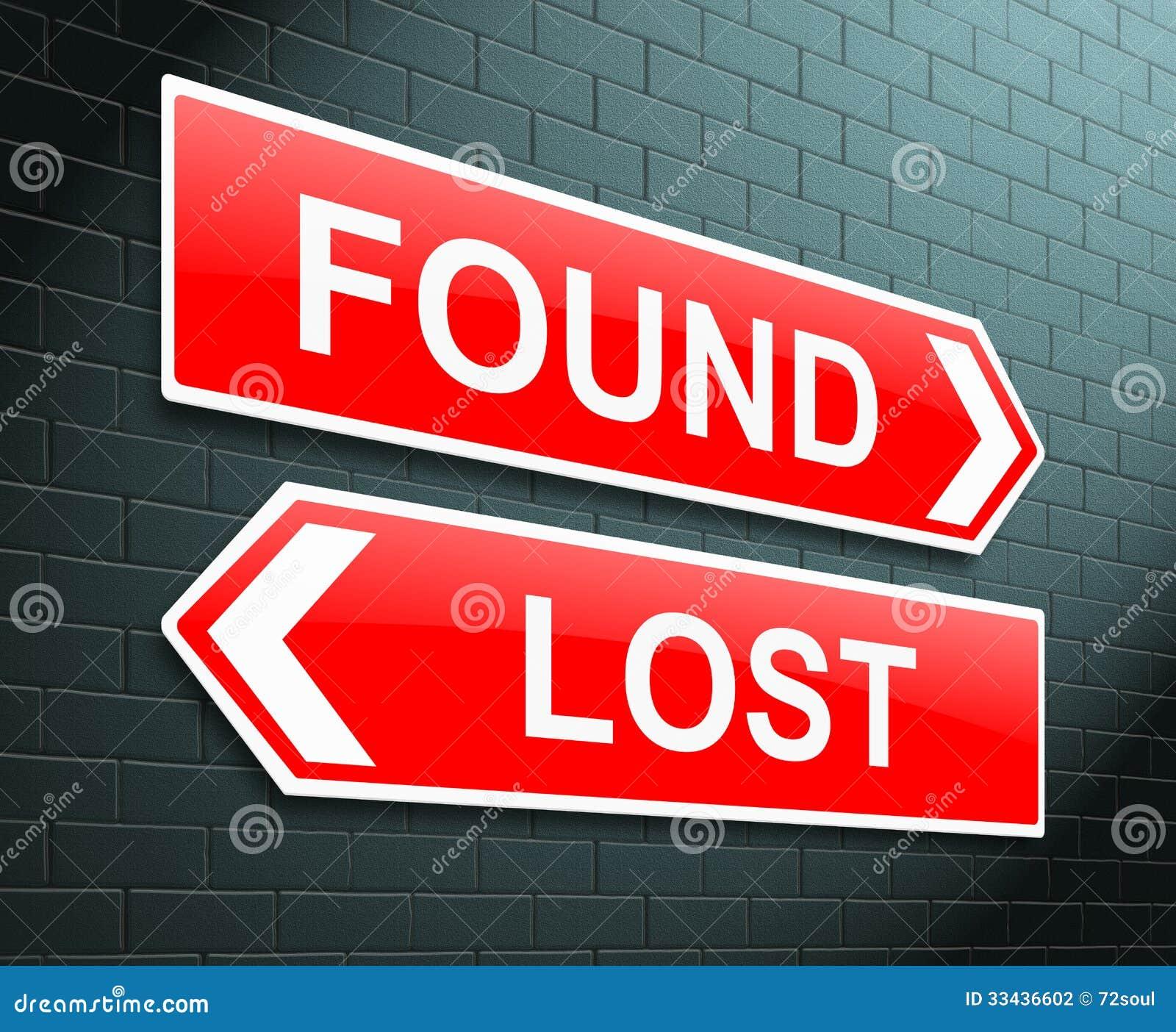 失去或被找到的概念。