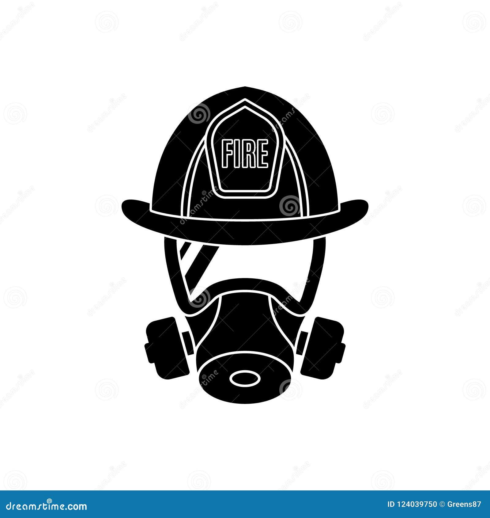 头戴防护防毒面具和盔甲的消防队员