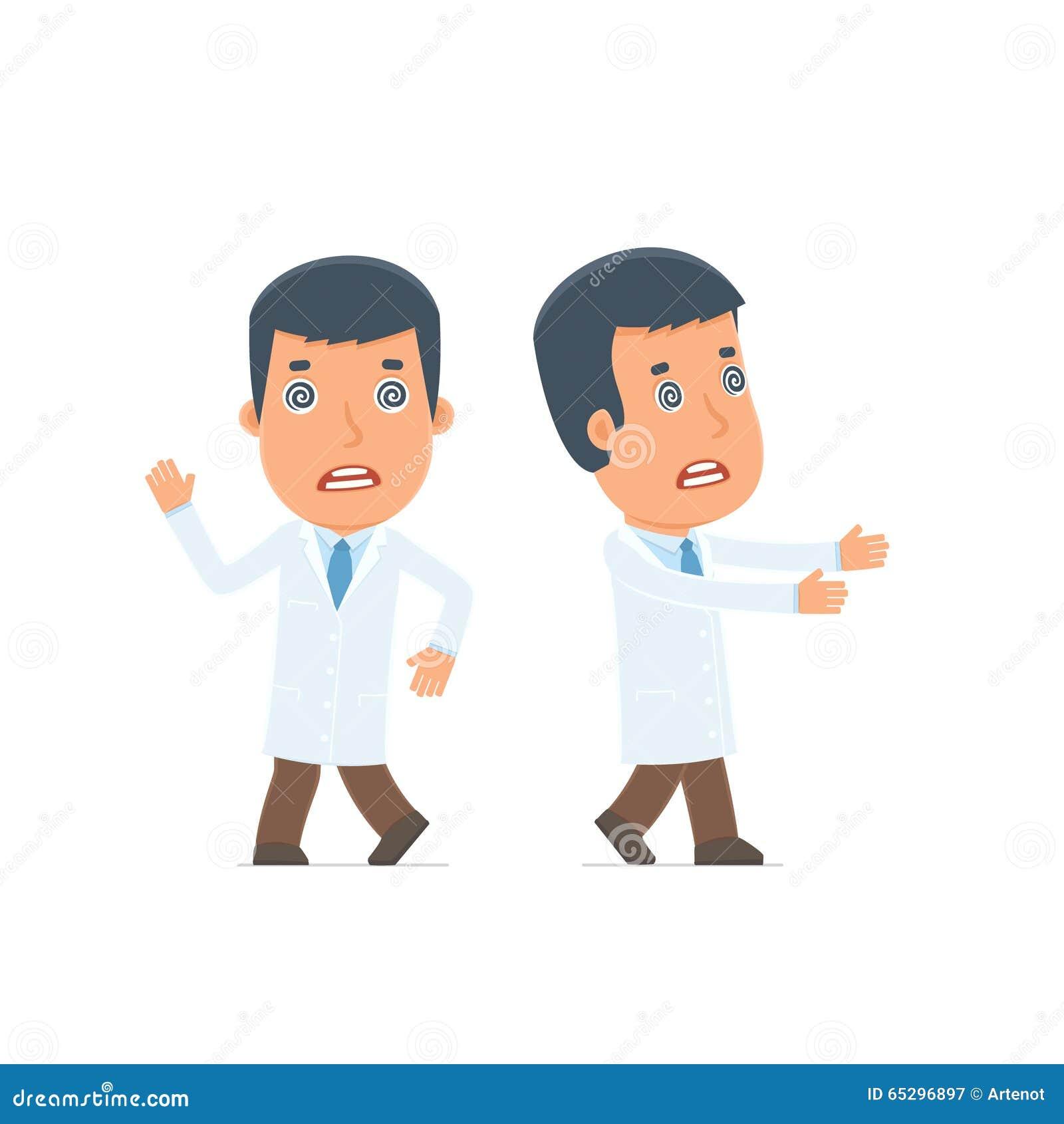 奇怪的姿势的疯狂和疯狂的字符医生在hypnos下