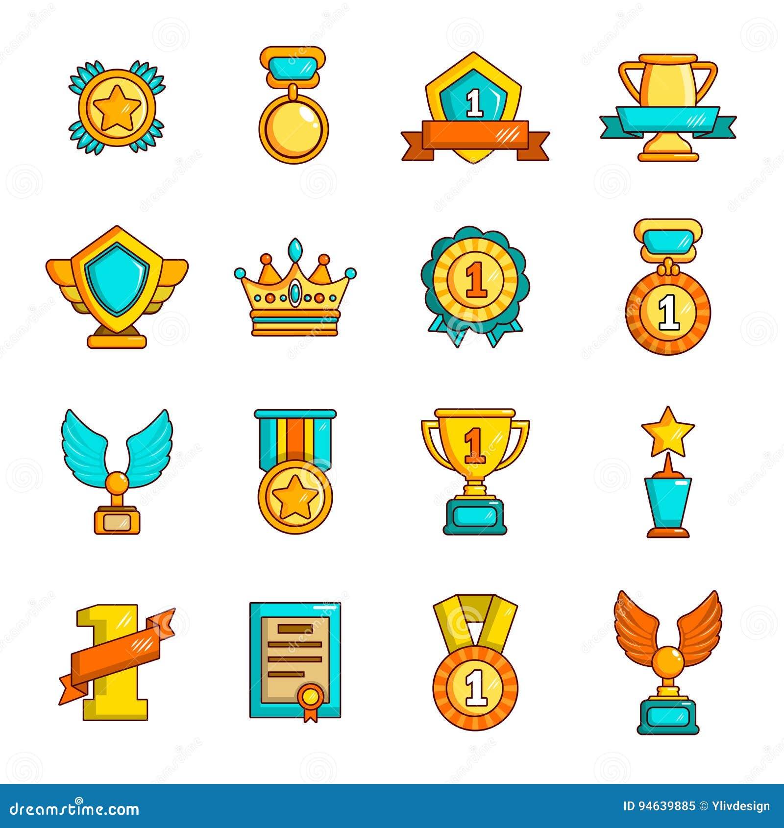 奖奖牌杯子象设置了,简单的样式