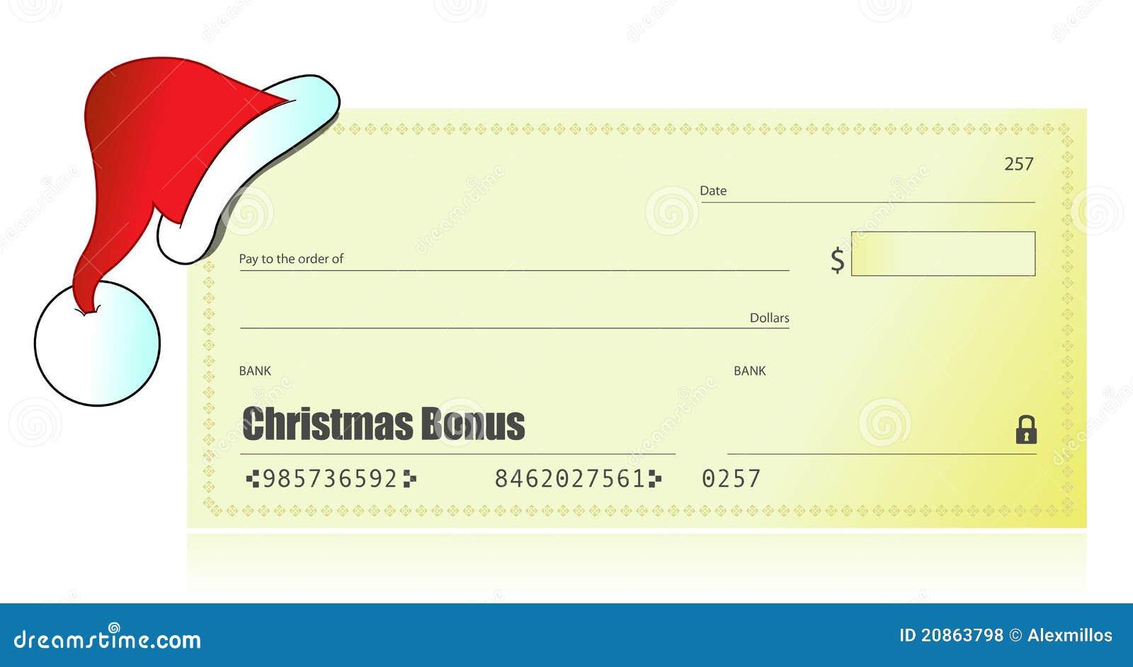 No Credit Check Credit Cards >> 奖金支票圣诞节例证 免版税库存照片 - 图片: 20863798