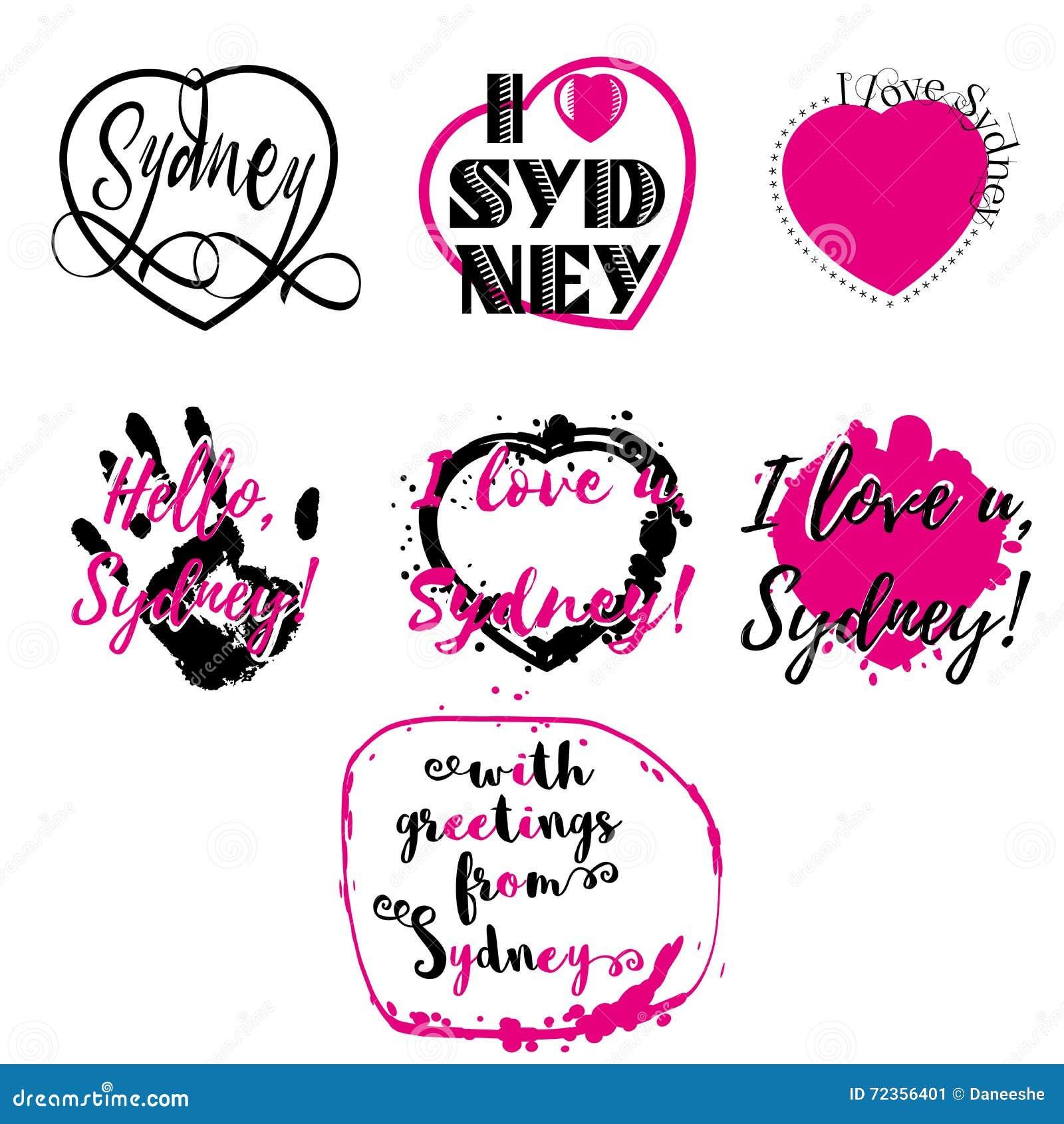 套与字法的标签我爱悉尼