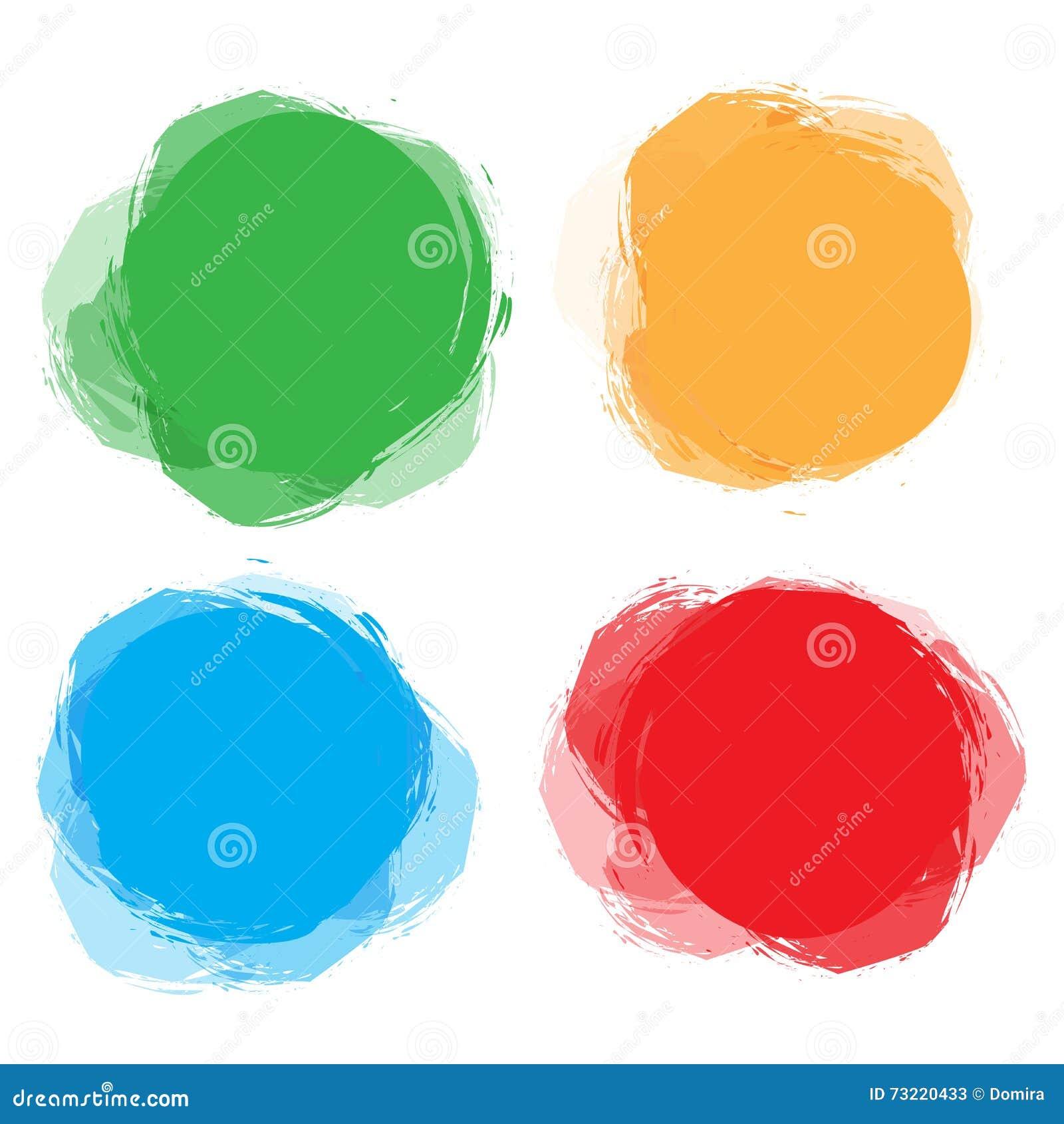 套五颜六色的通报,圆的抽象横幅 设计和浆糊文本的模板 图表横幅设计