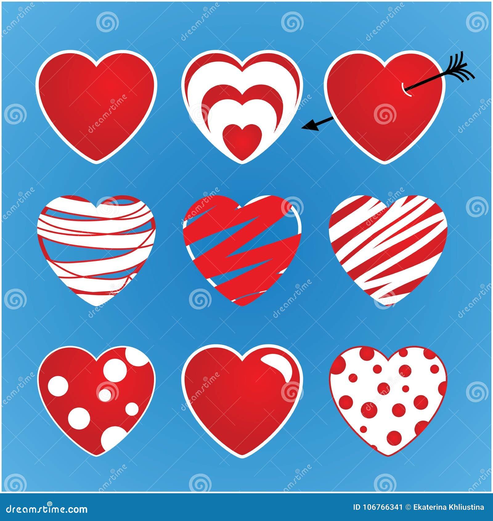 套传染媒介华伦泰由九心脏做成 主要上色红色和白色