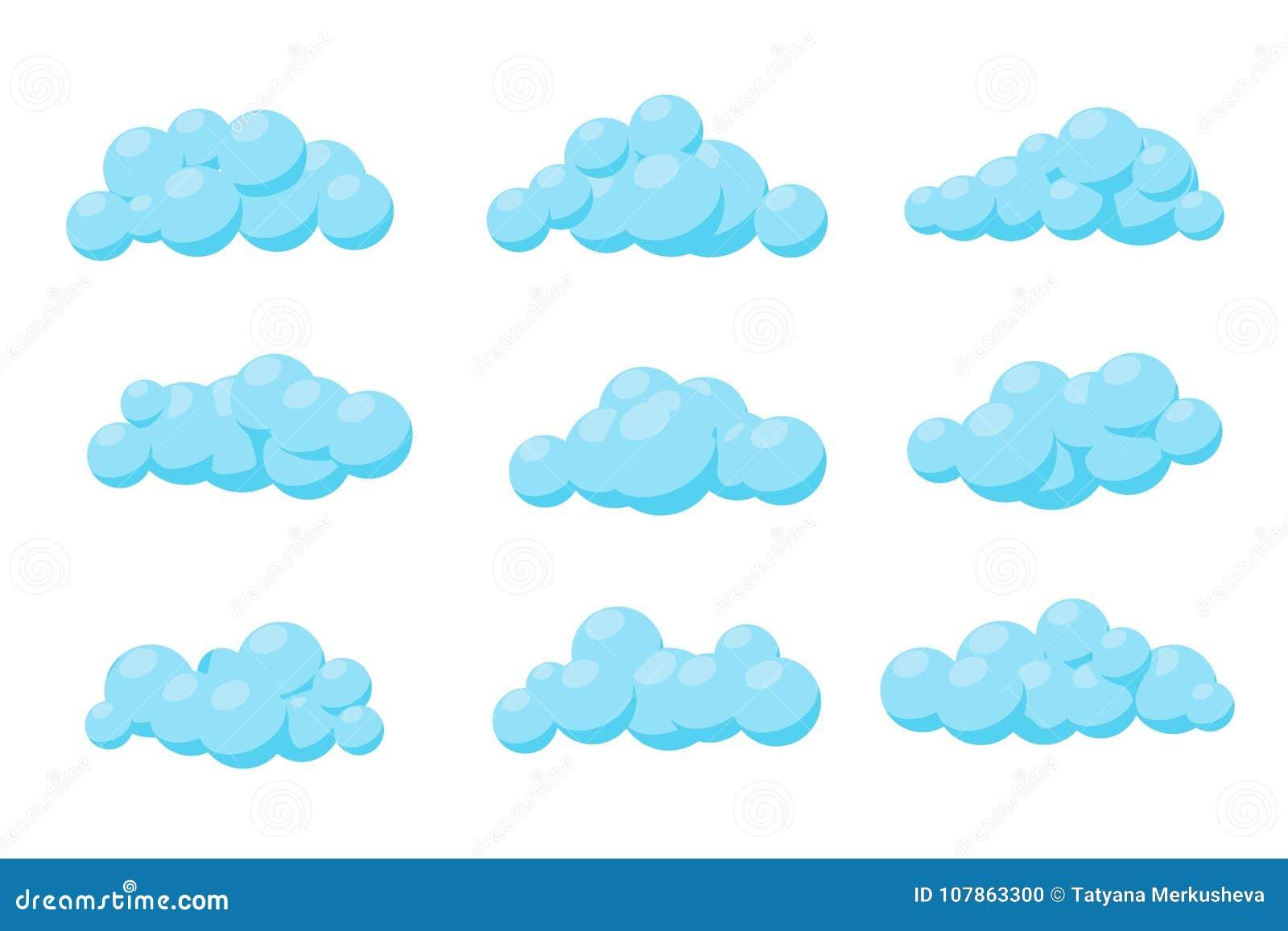 套动画片传染媒介云彩 例证