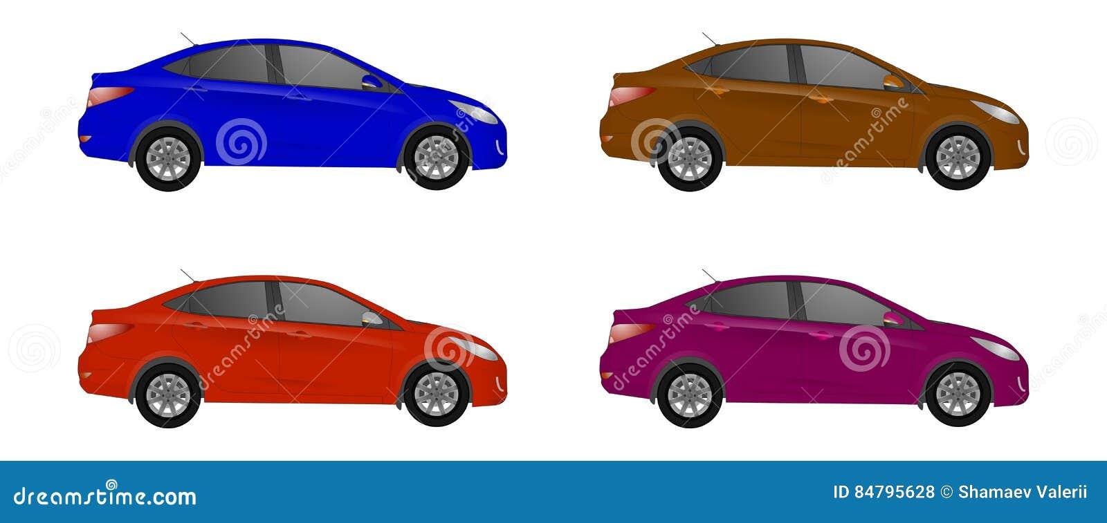 套另外颜色汽车,现实汽车塑造