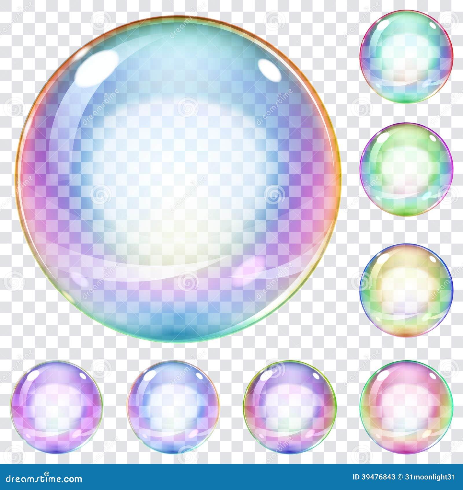 套多彩多姿的肥皂泡