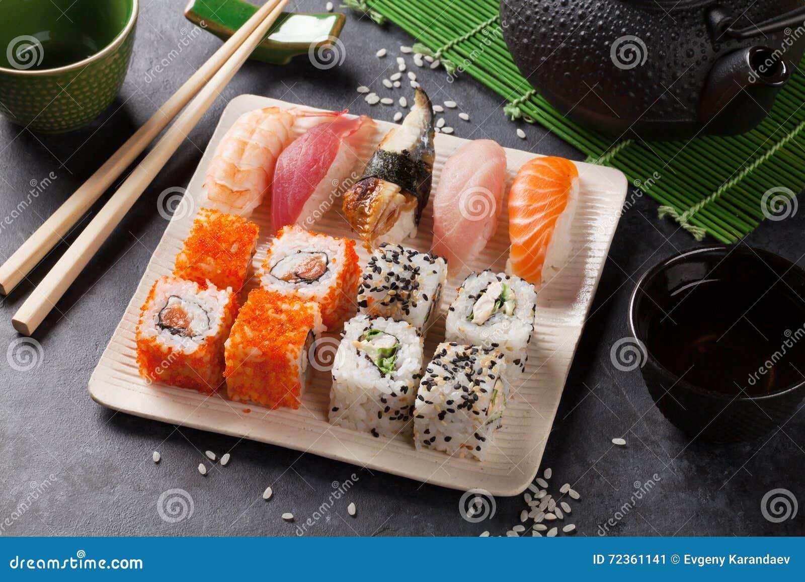 套寿司、maki和绿茶