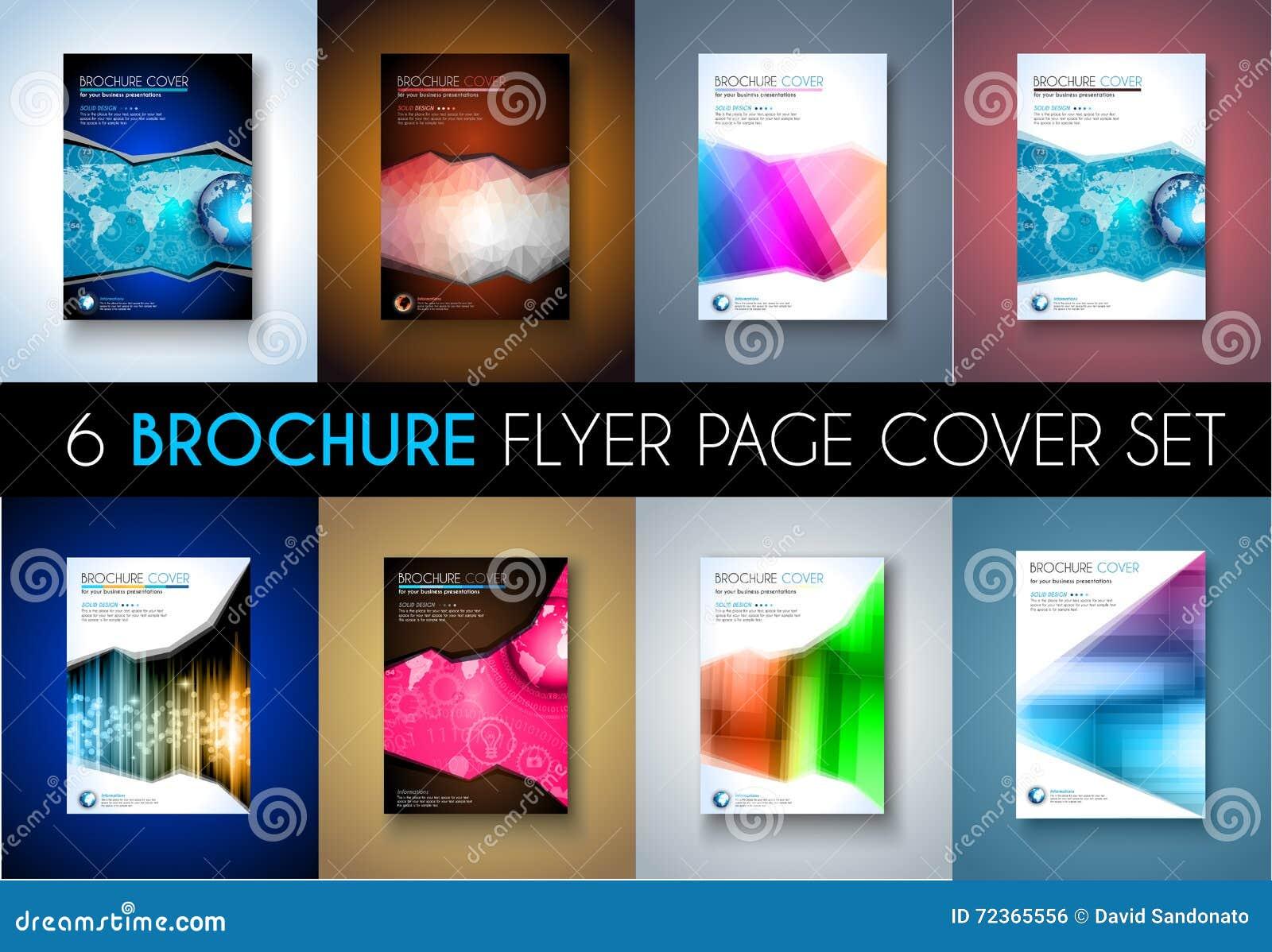 套小册子模板、飞行物设计或者Depliant盖子企业介绍的