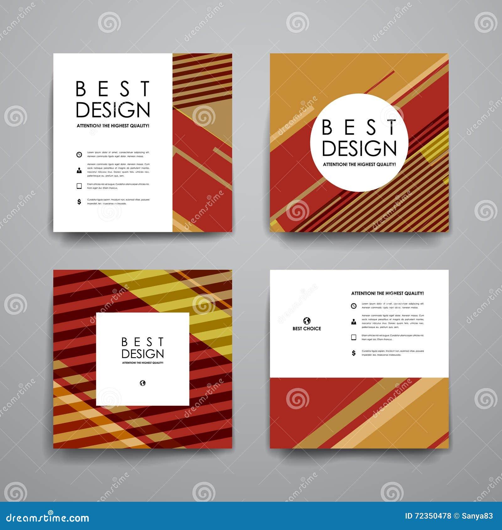 套小册子,海报在抽象背景样式的设计模板