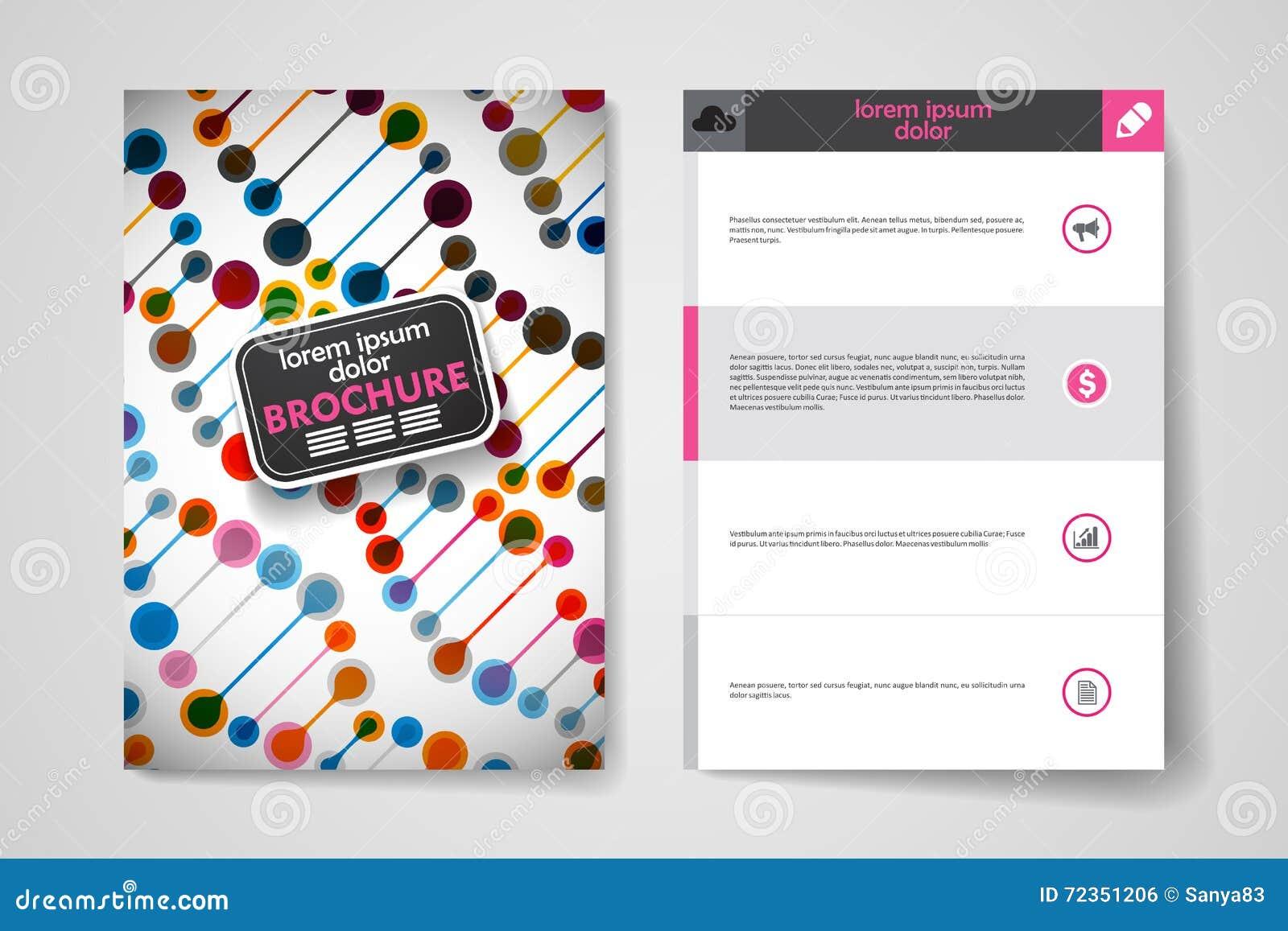 套小册子,海报在脱氧核糖核酸分子样式的设计模板