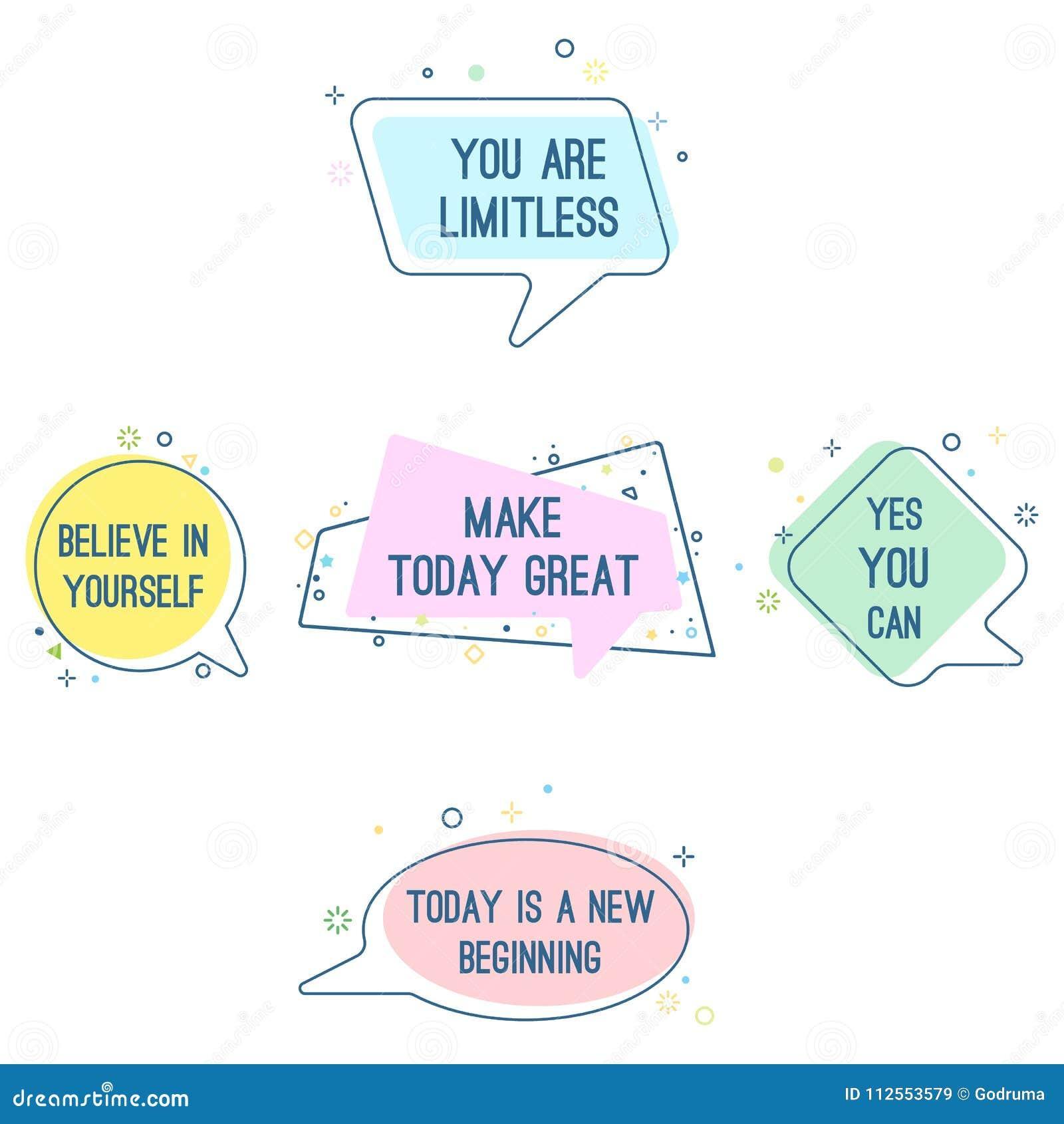 套座右铭说法相信你自己,您是不可限量的