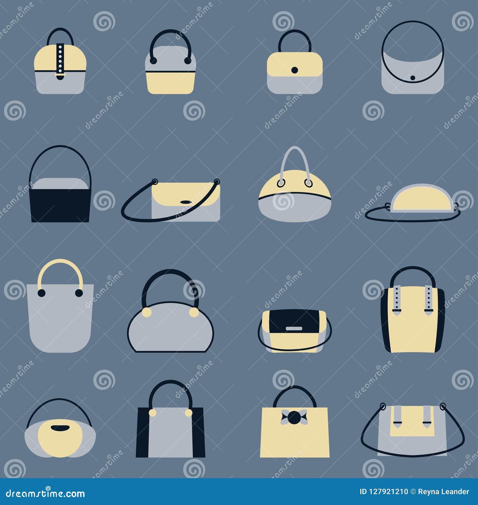 套时髦的妇女s提包-搬运、顾客、流浪汉、桶、书包和囊袋子 另外typ时髦皮革辅助部件
