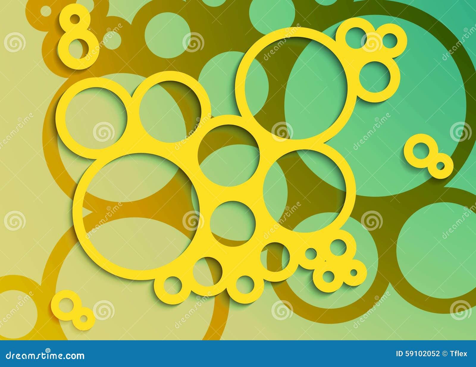 套明亮的抽象圈子框架设计