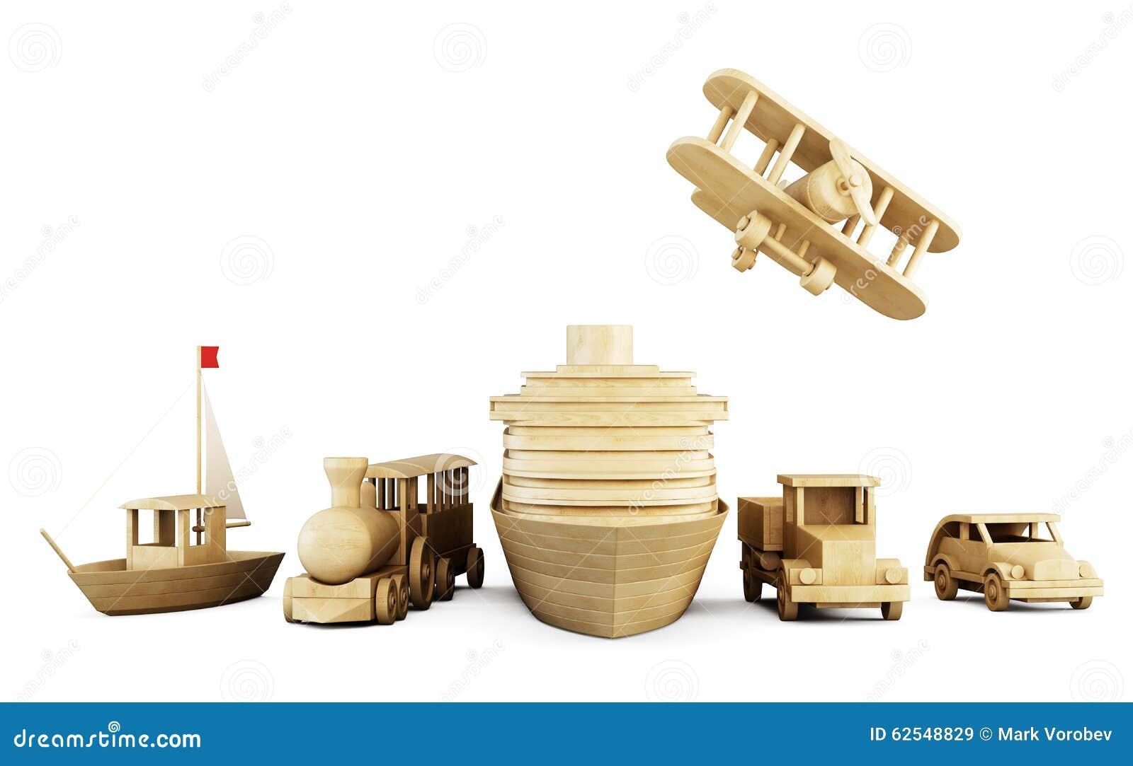 套木玩具-运输的不同的类型
