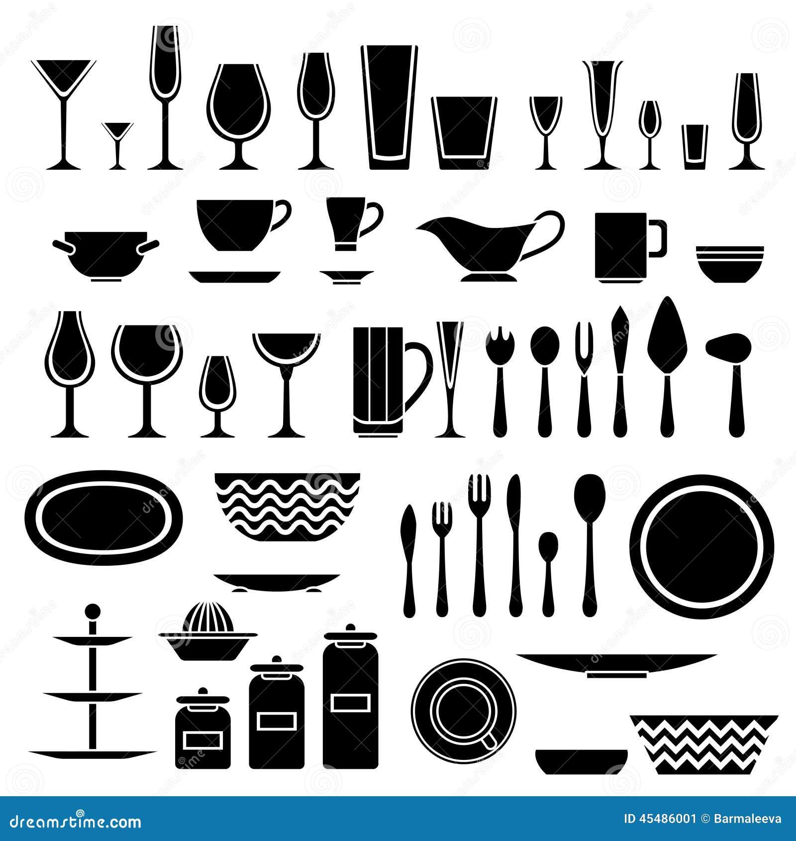 套炊具和厨房剪影