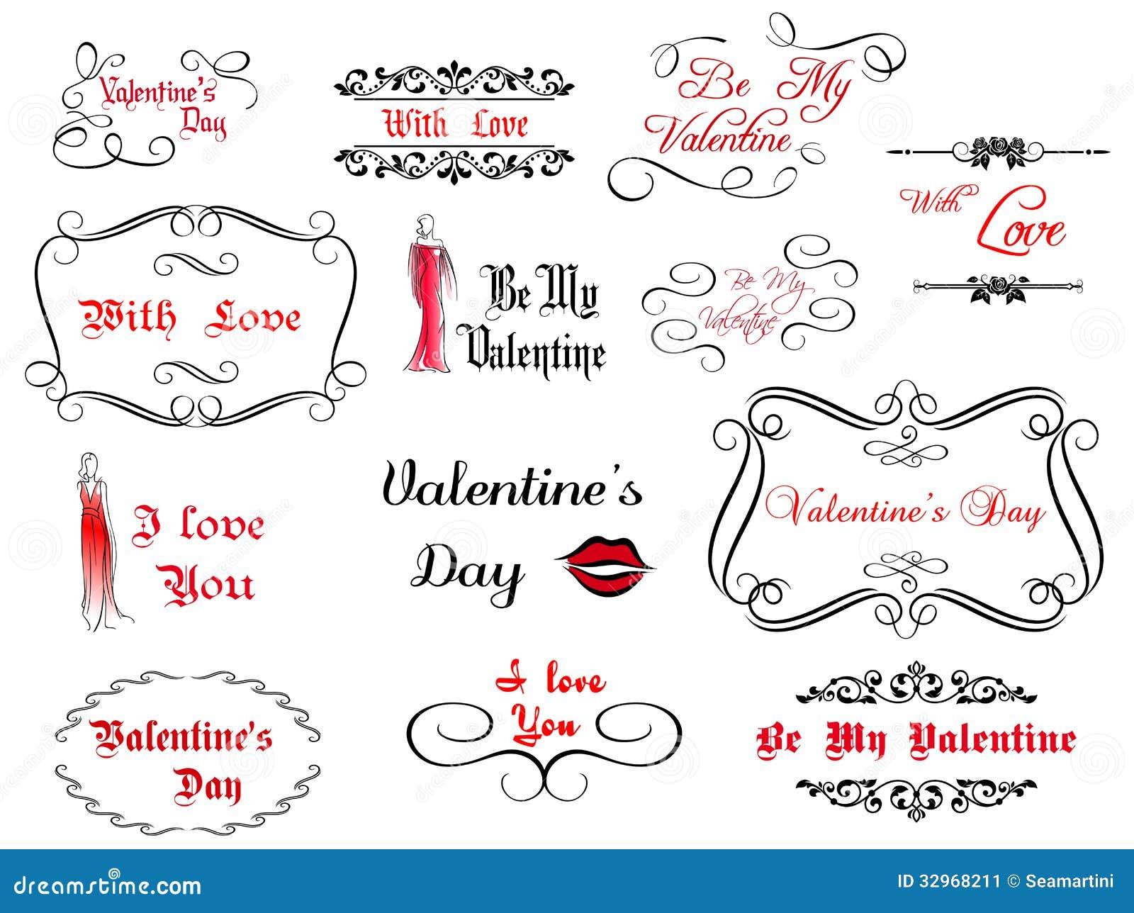 Imagem Vetorial Gratis Mapa Pinos Illustrator Titular: 套爱和华伦泰的书法标题 向量例证. 插画